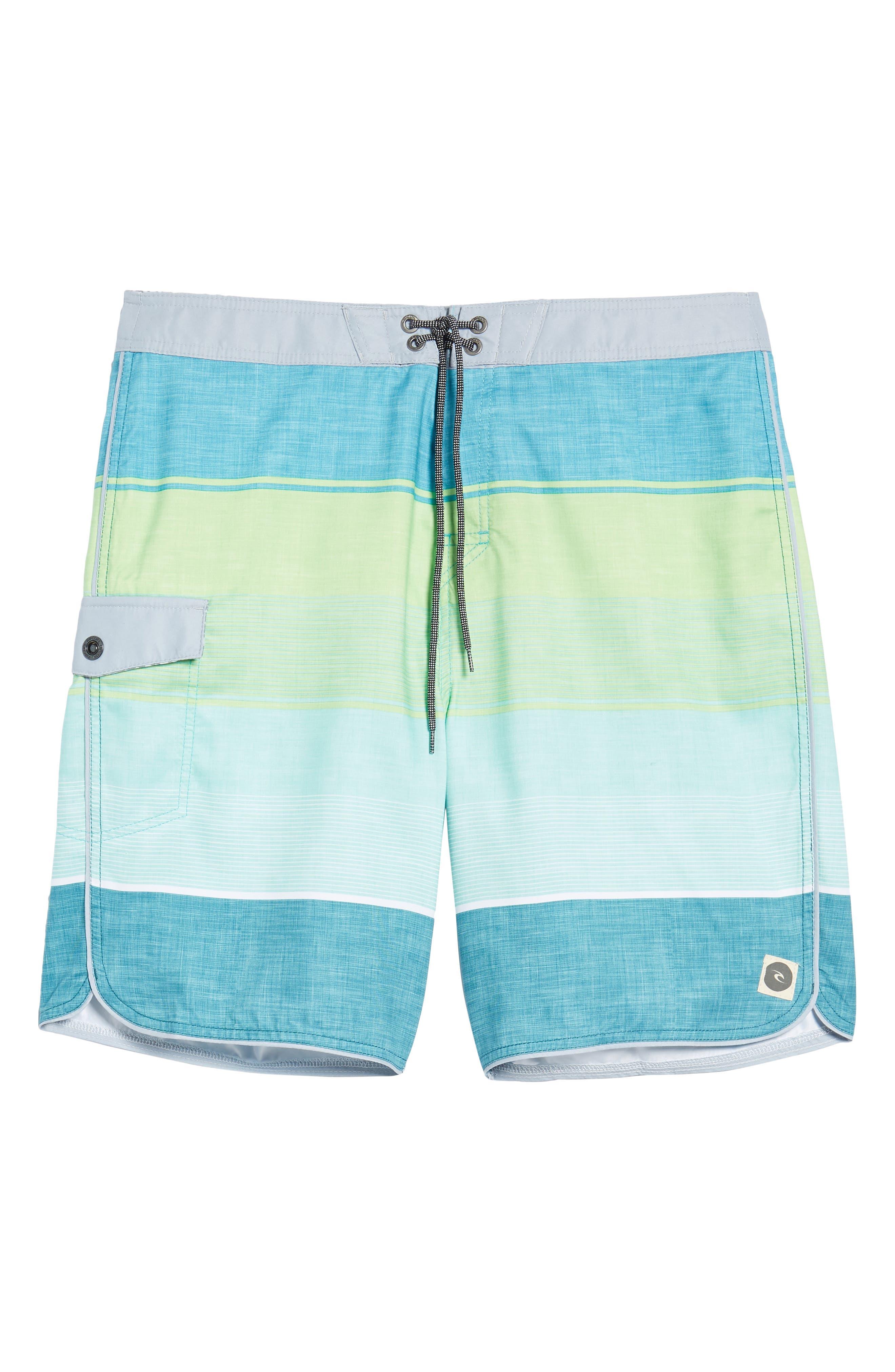 Good Vibes Board Shorts,                             Alternate thumbnail 6, color,                             Green