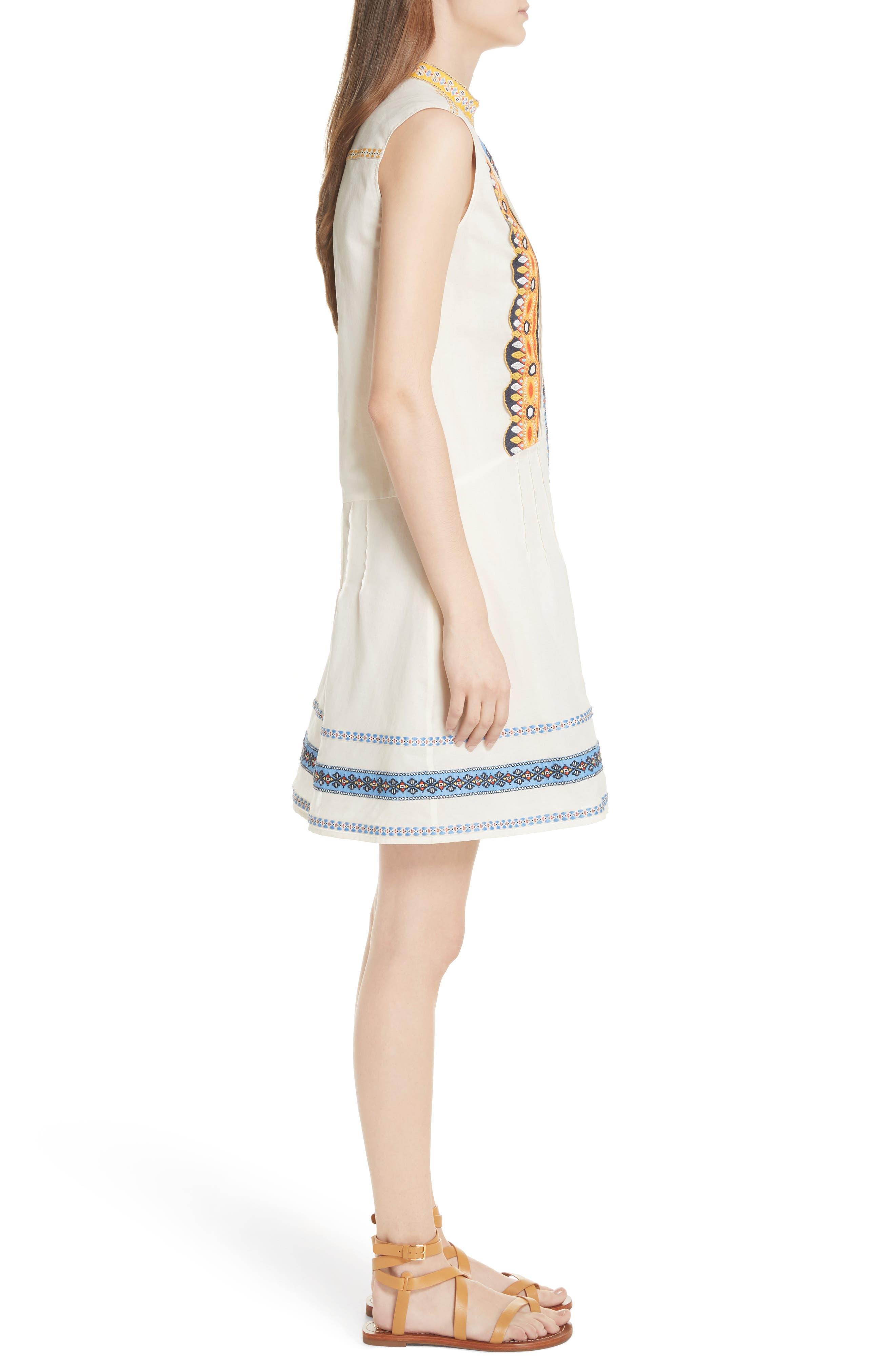Adriana Sleeveless Shirtdress,                             Alternate thumbnail 3, color,                             New Ivory