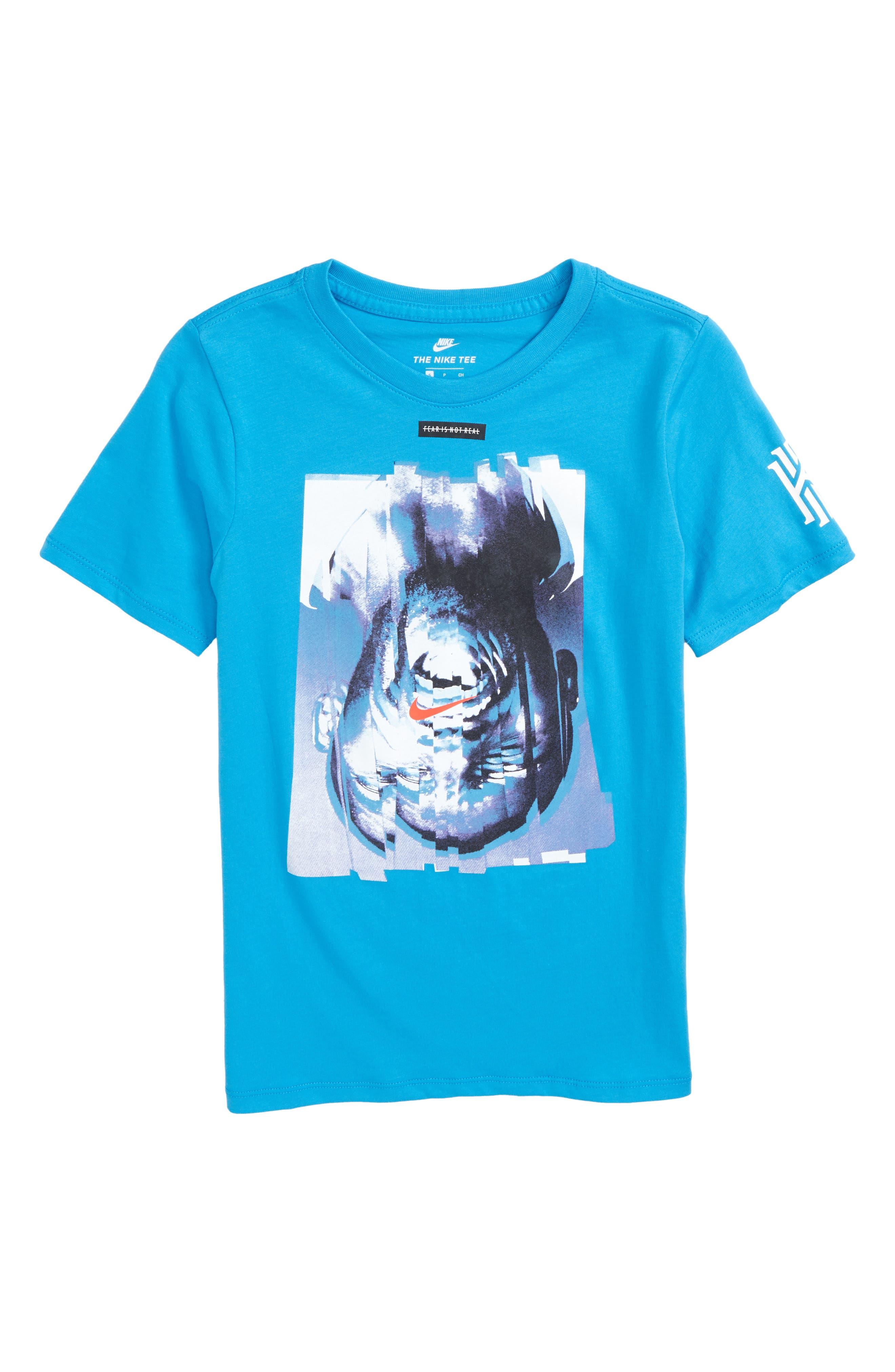 Kyrie Graphic T-Shirt,                             Main thumbnail 1, color,                             Equator Blue