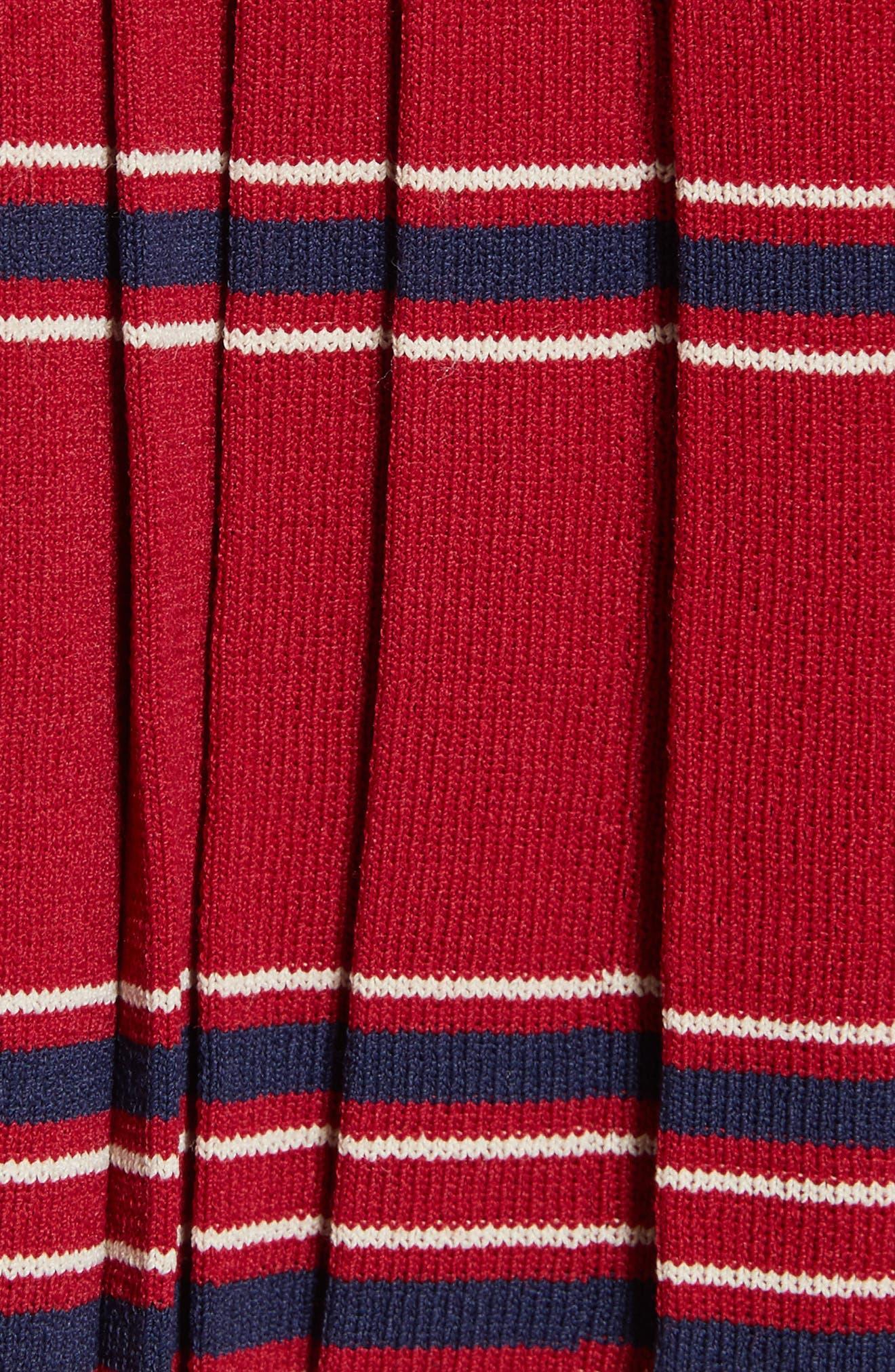 Pleated Miniskirt,                             Alternate thumbnail 6, color,                             Bordeaux