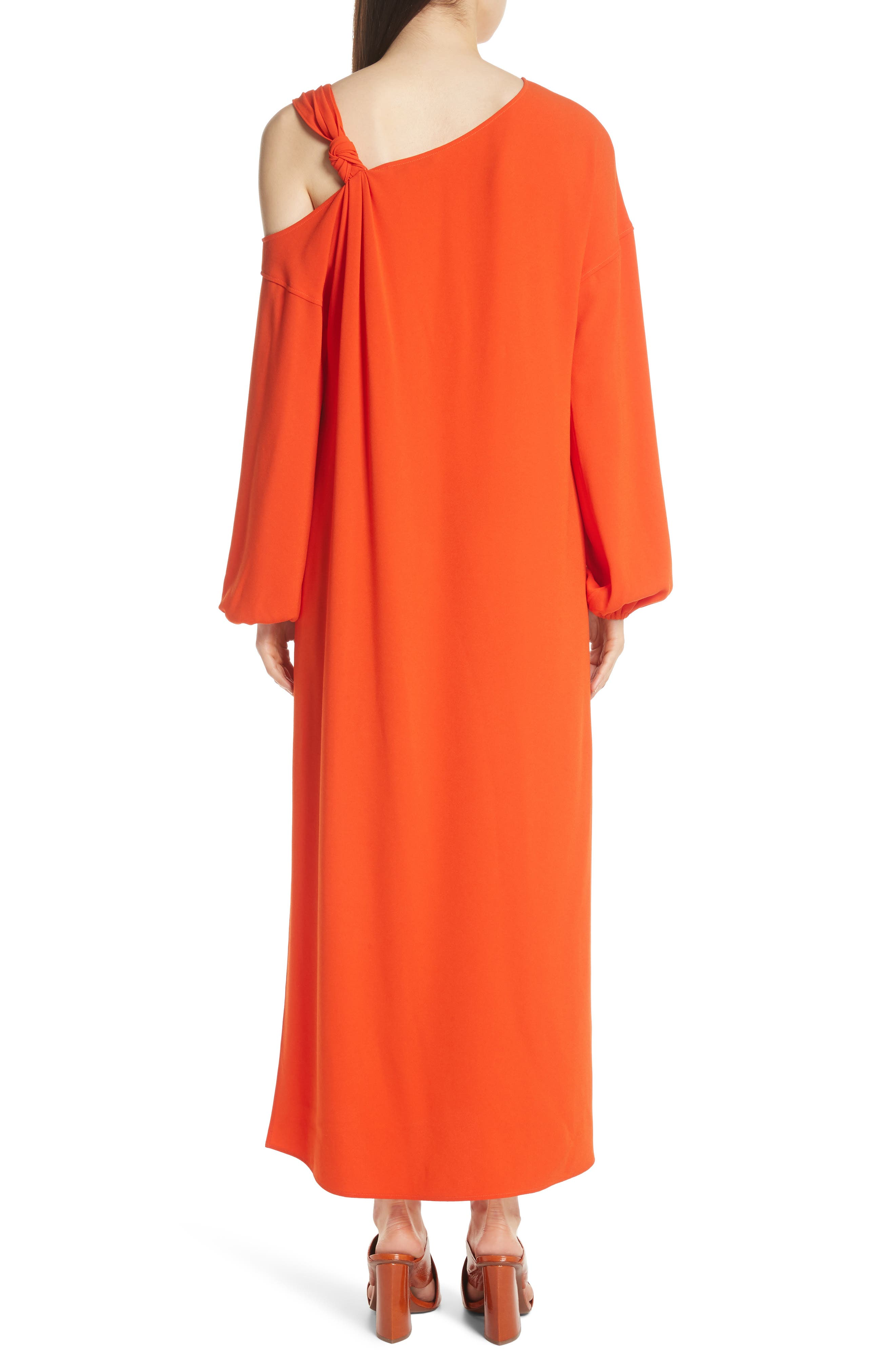 Shontae One-Shoulder Maxi Dress,                             Alternate thumbnail 3, color,                             Tangerine