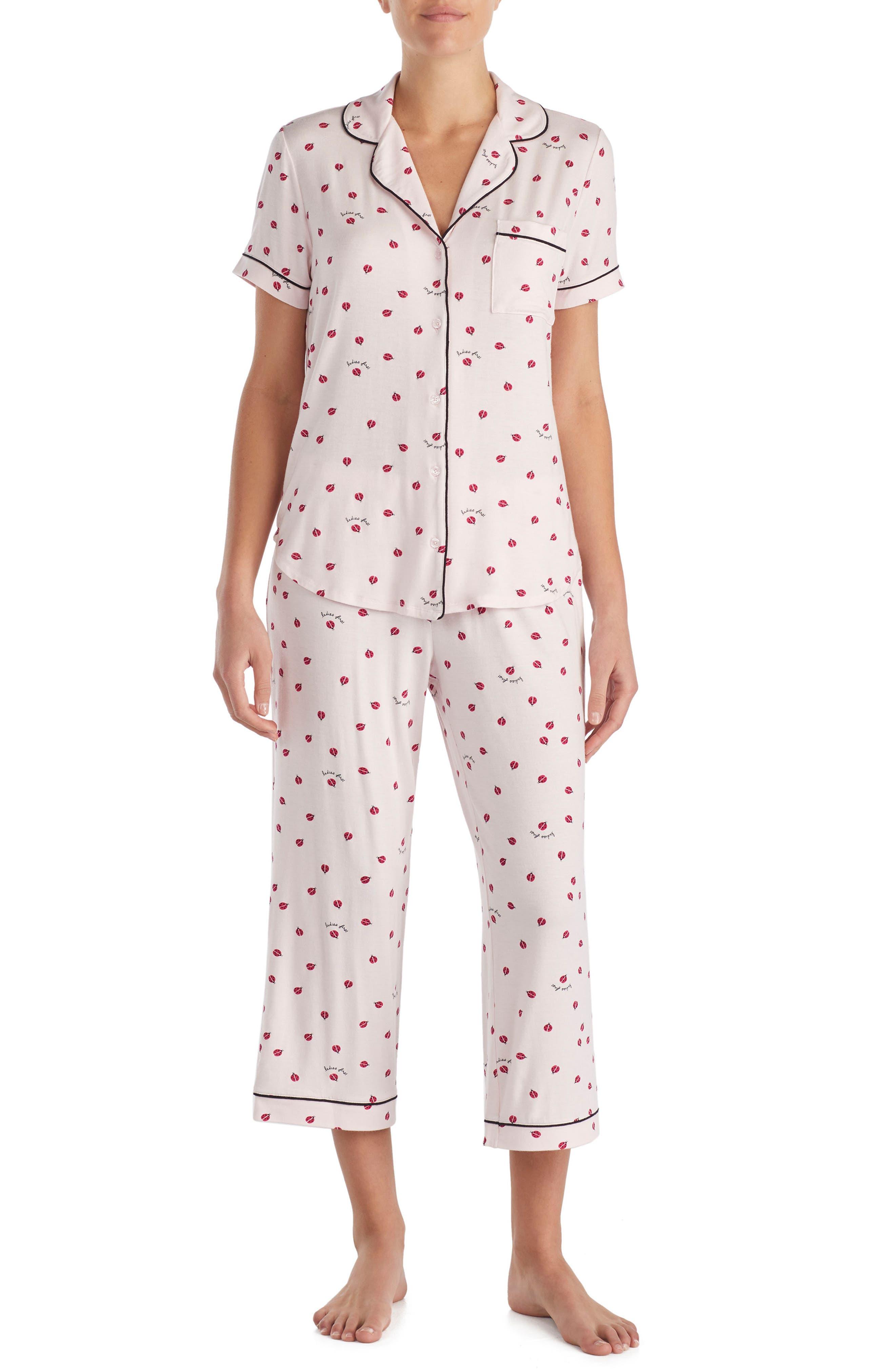 capri pajamas,                             Main thumbnail 1, color,                             Ladybug
