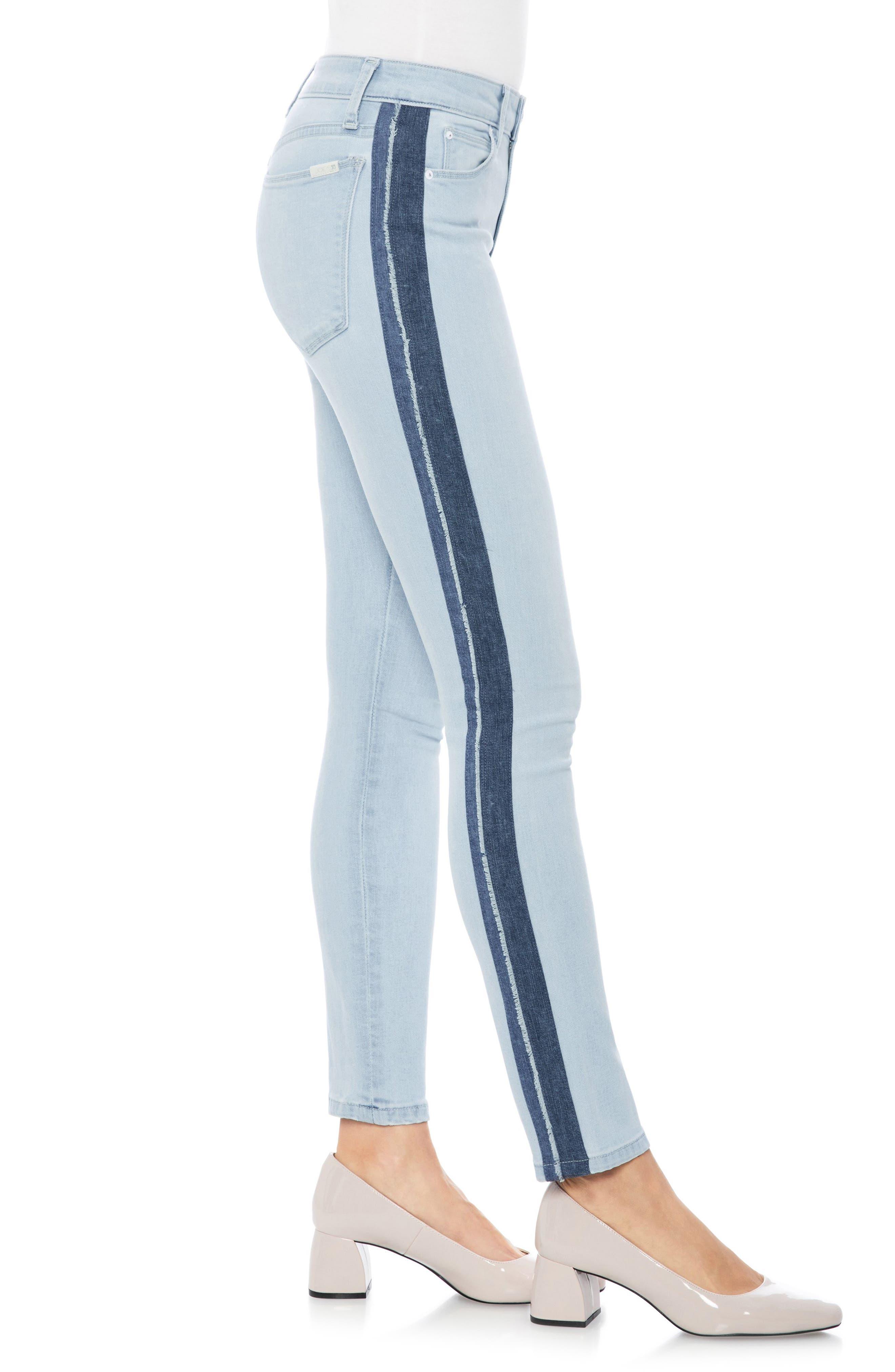 Icon Stripe Ankle Skinny Jeans,                             Alternate thumbnail 3, color,                             Lois