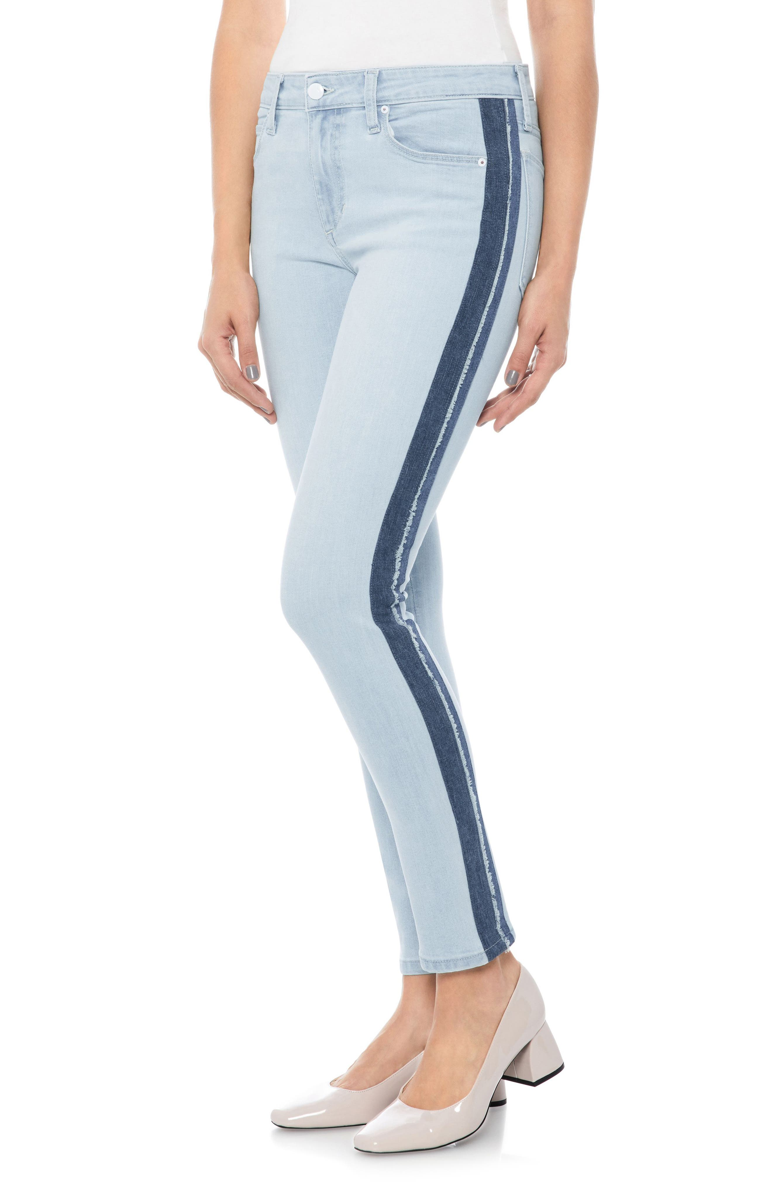 Icon Stripe Ankle Skinny Jeans,                         Main,                         color, Lois
