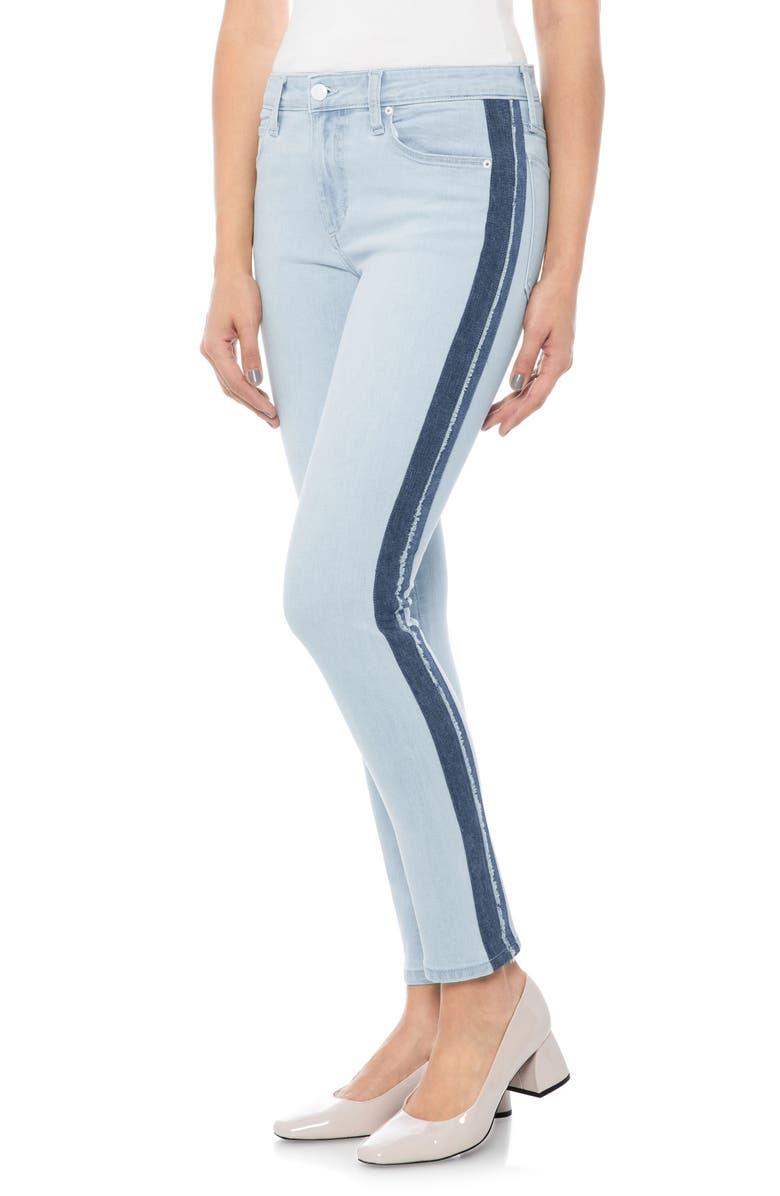 Icon Stripe Ankle Skinny Jeans