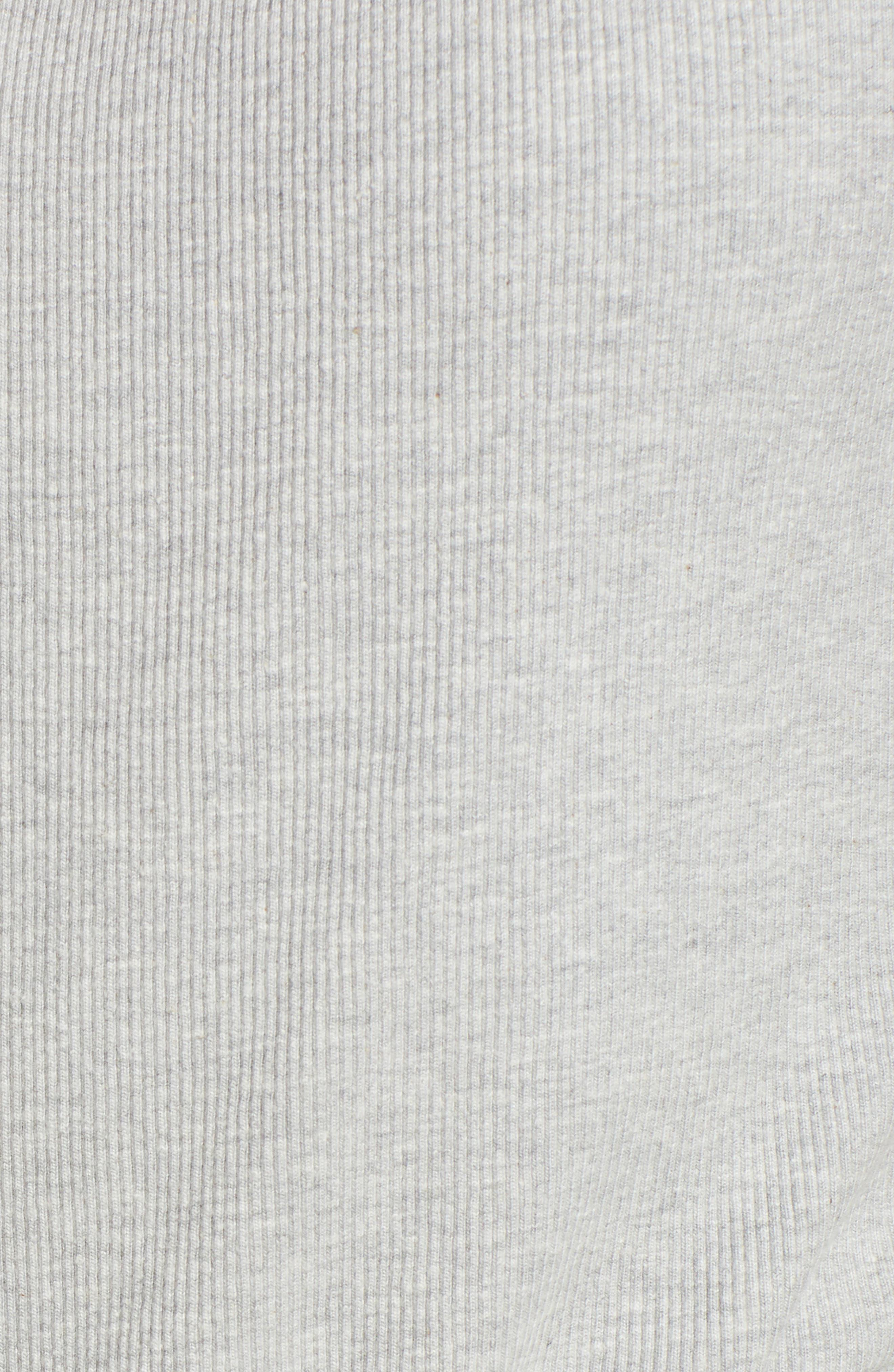 Malibu Hooded Romper,                             Alternate thumbnail 6, color,                             Light Grey Marl/ Peacoat