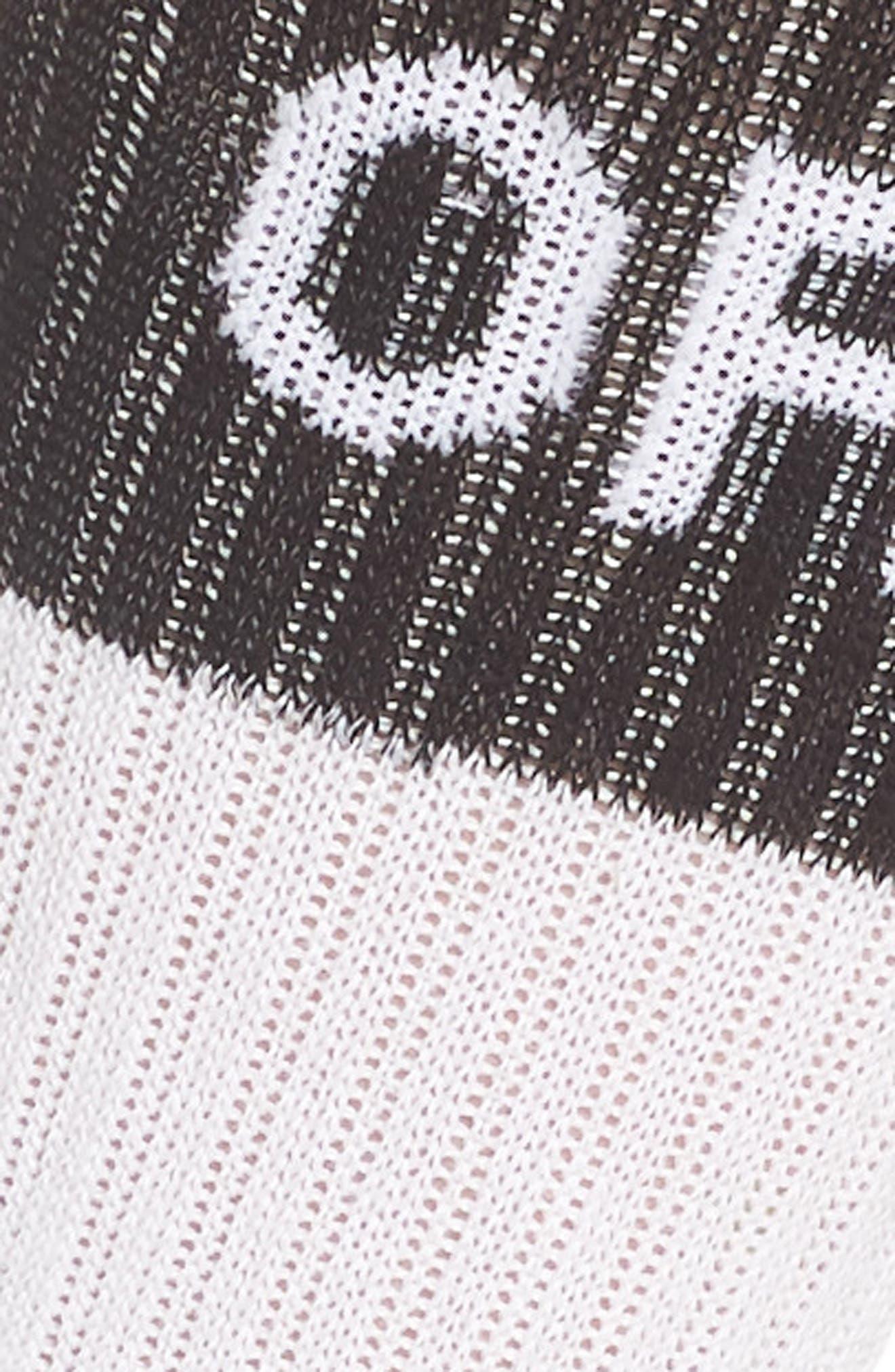 Summer Camp Tube Socks,                             Alternate thumbnail 3, color,                             White/ Black