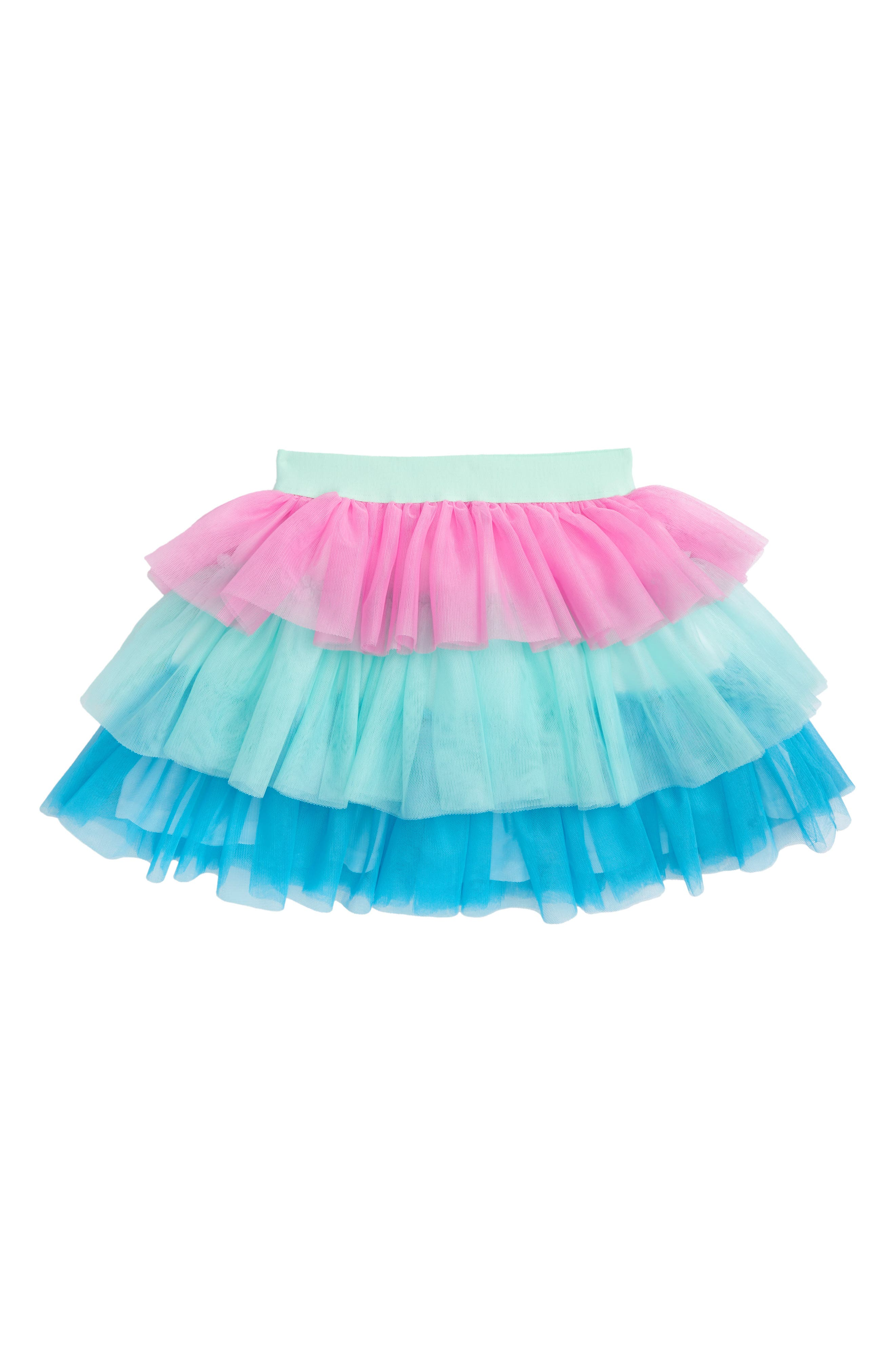 Truly Me Colorblock Tiered Tulle Skirt (Toddler Girls & Little Girls)