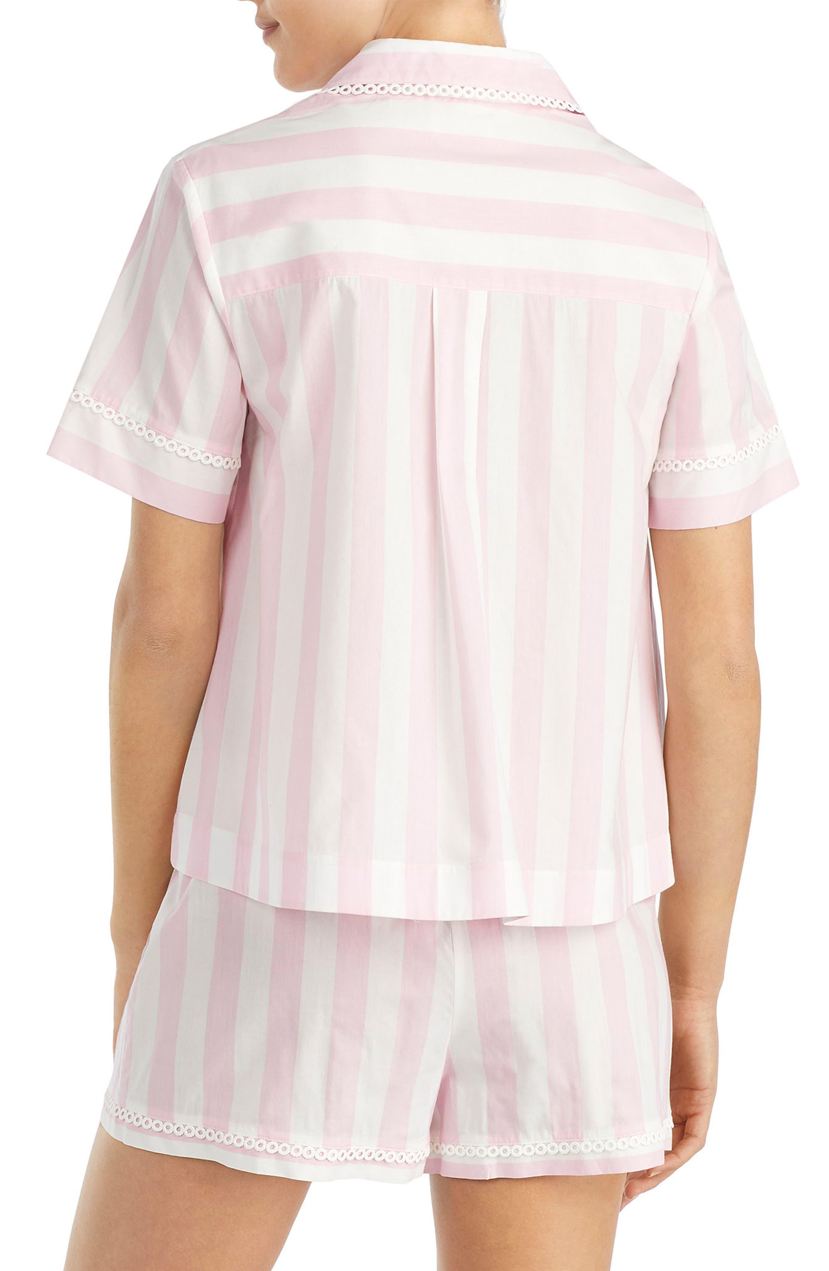 short pajamas,                             Alternate thumbnail 2, color,                             Bay Stripe