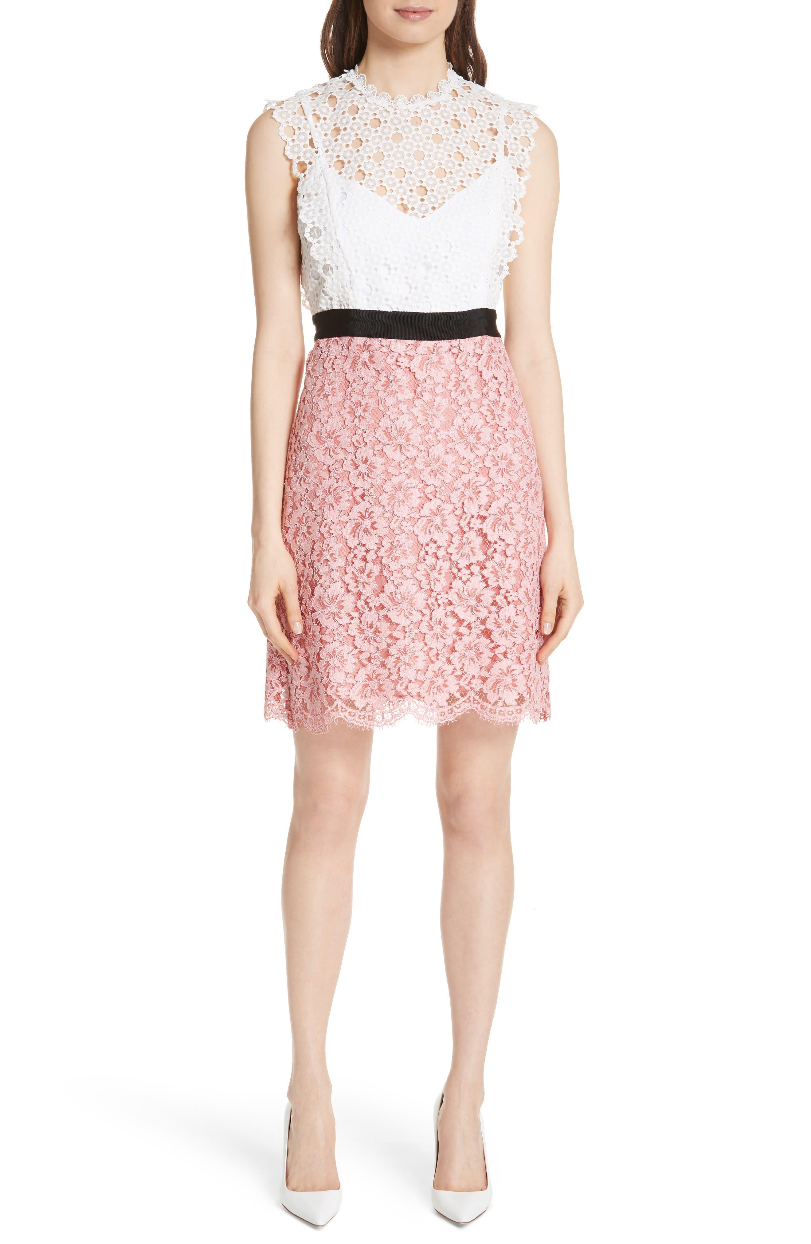 sandro Mixed Lace Dress