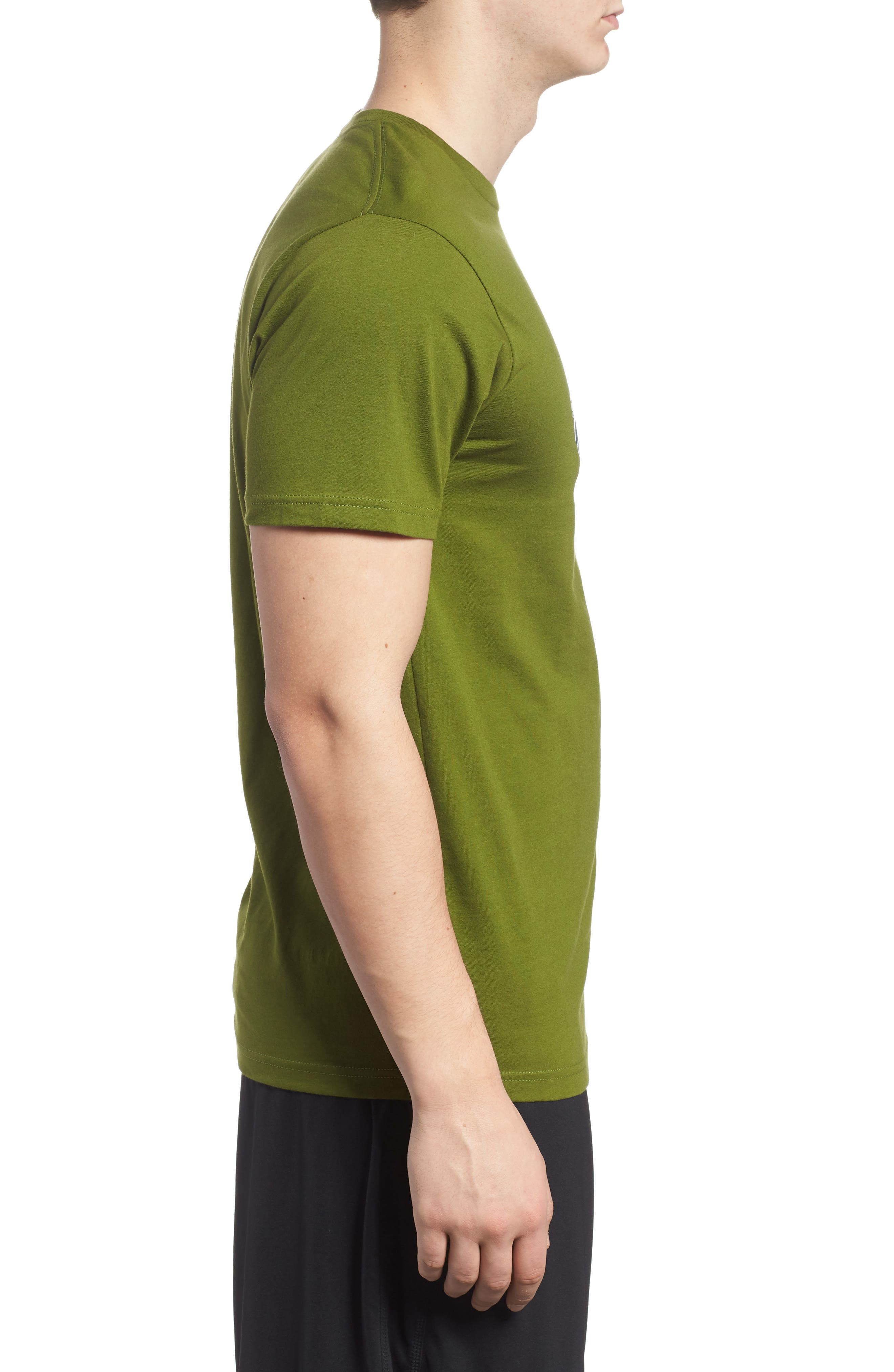 Oily Olas Slim Fit Organic Cotton T-Shirt,                             Alternate thumbnail 3, color,                             Sprouted Green
