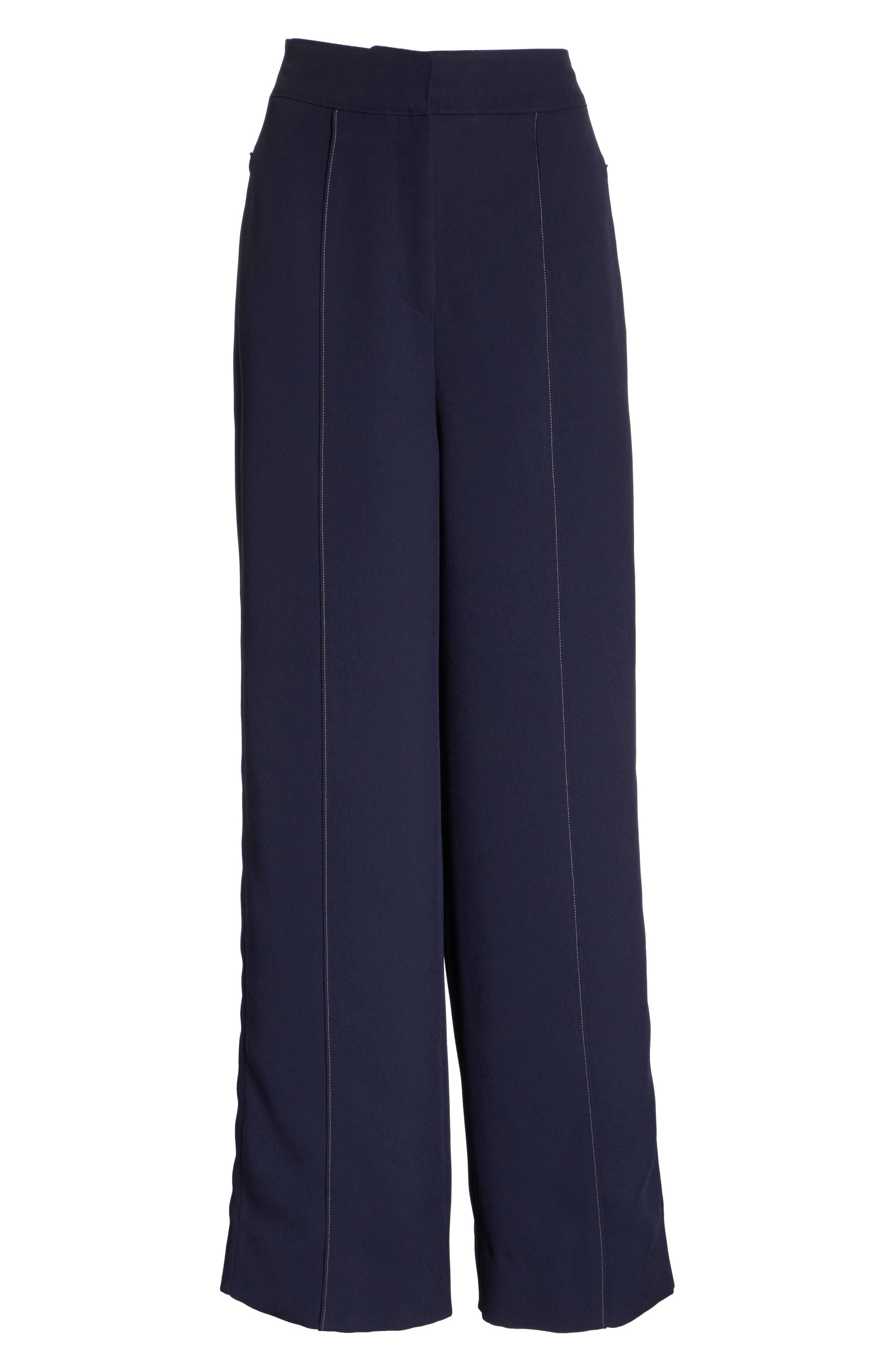 Lapari Pintuck Trousers,                             Alternate thumbnail 6, color,                             Navy