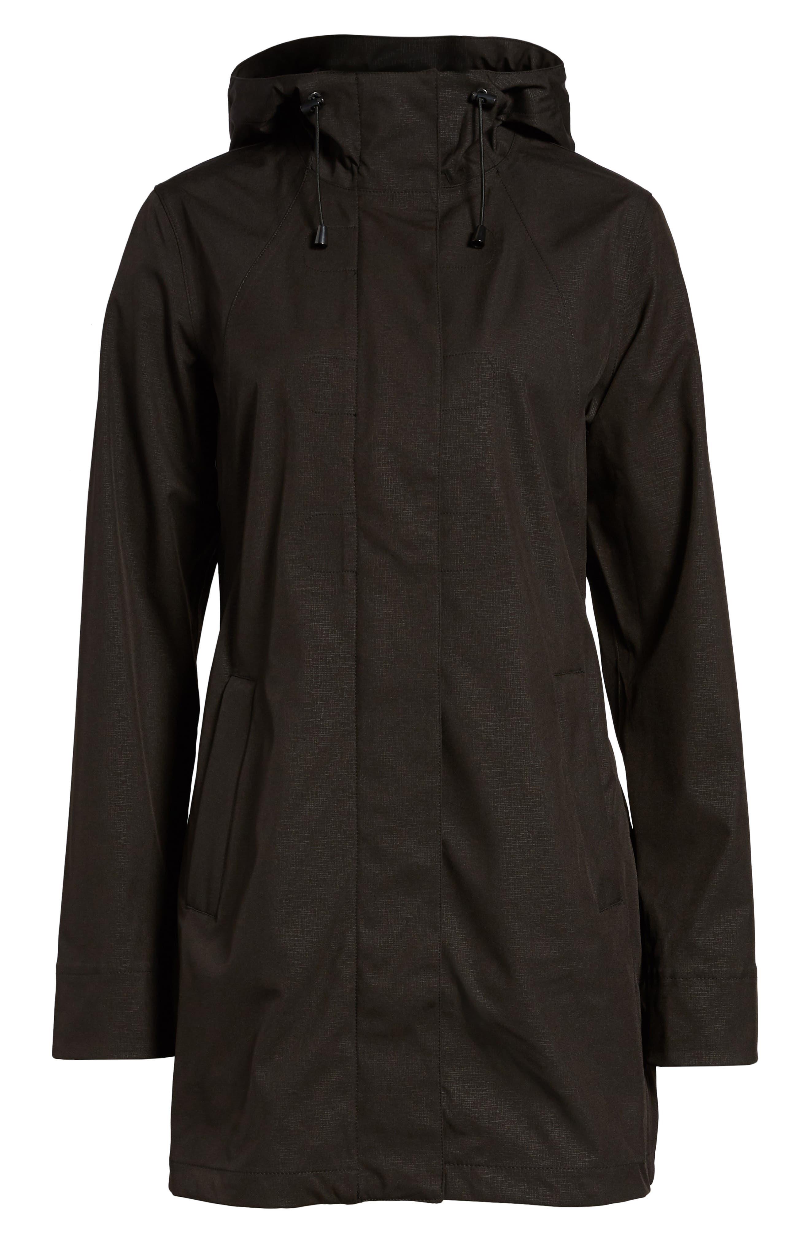 Soft Shell Raincoat,                             Main thumbnail 1, color,                             Black