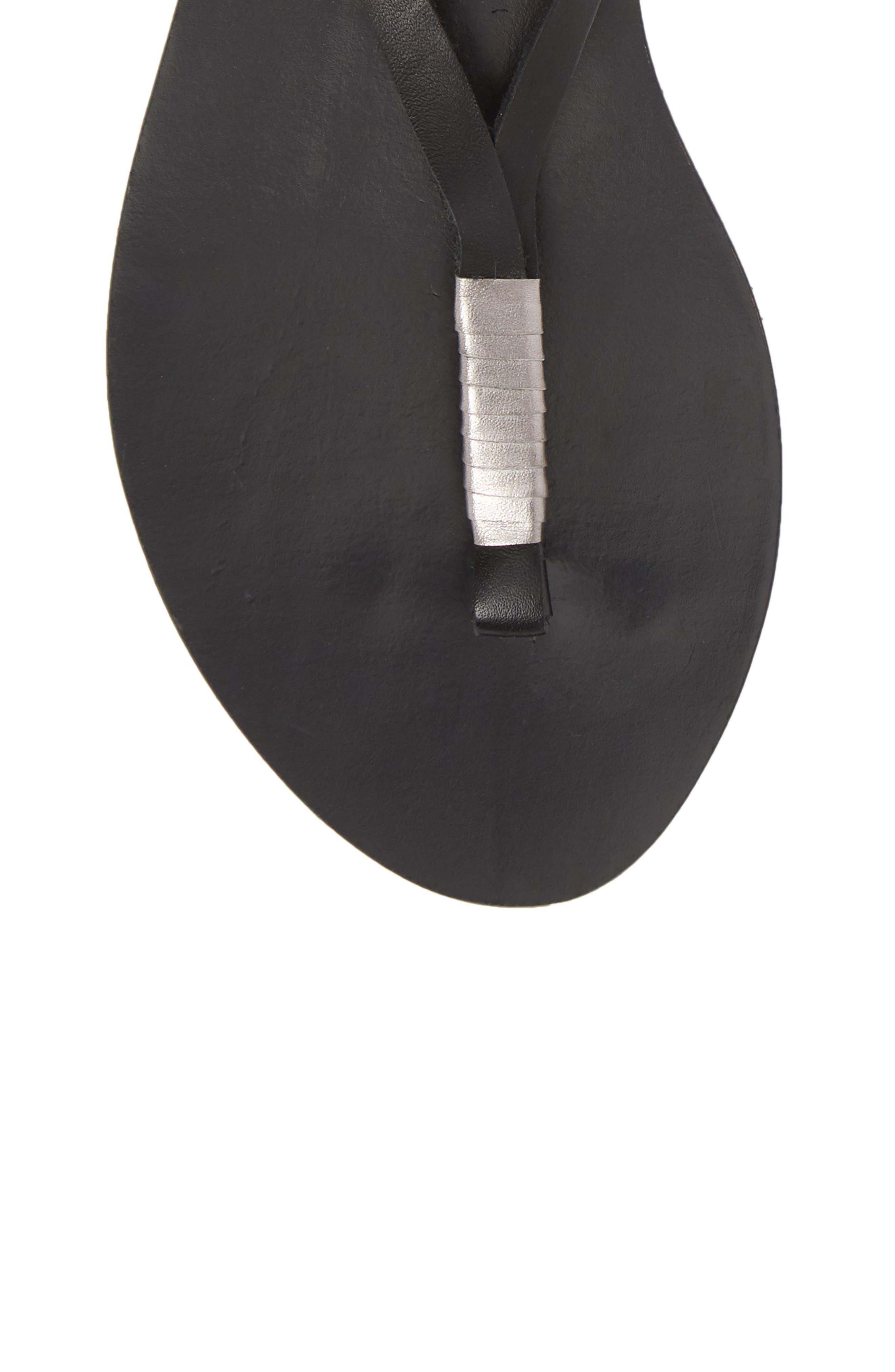 Amuse Society x Matisse Positano Sandal,                             Alternate thumbnail 5, color,                             Black Leather