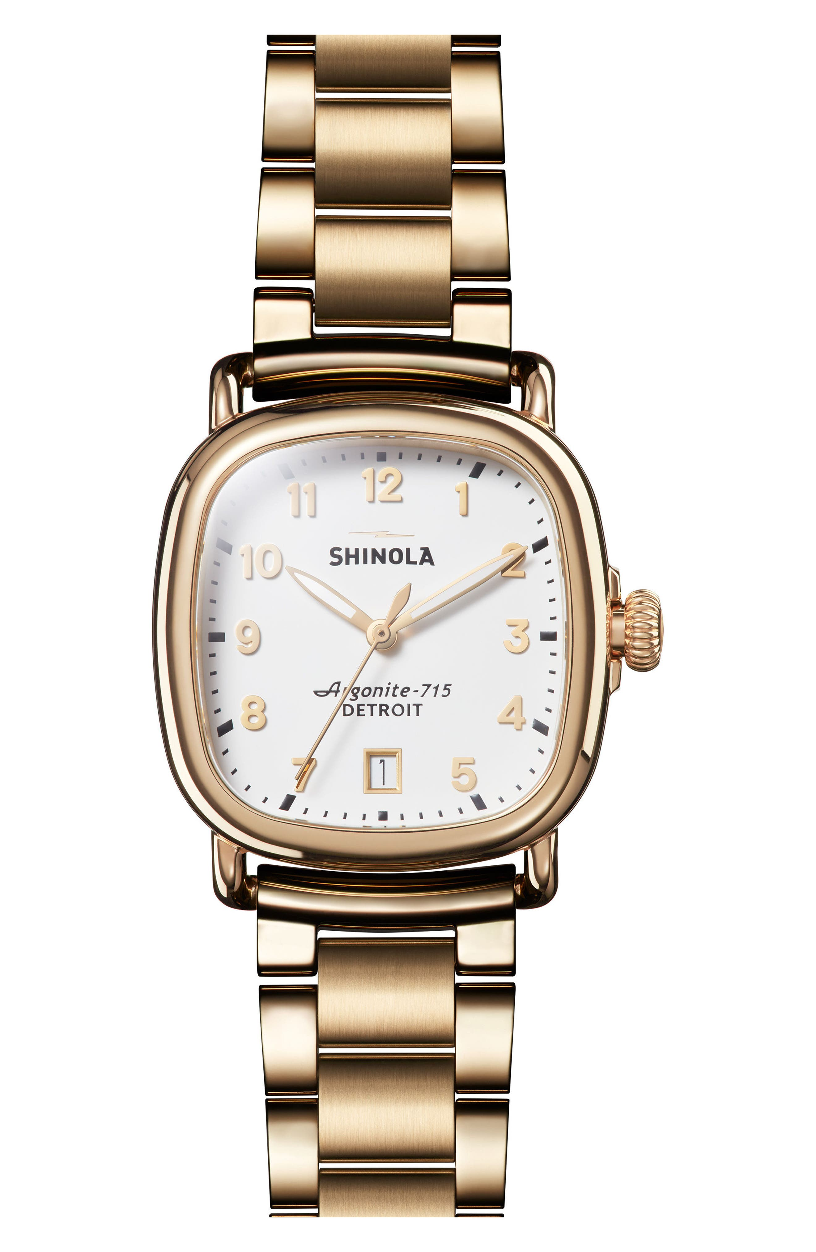 The Guardian Bracelet Watch, 36mm,                             Main thumbnail 1, color,                             Gold/ White/ Gold