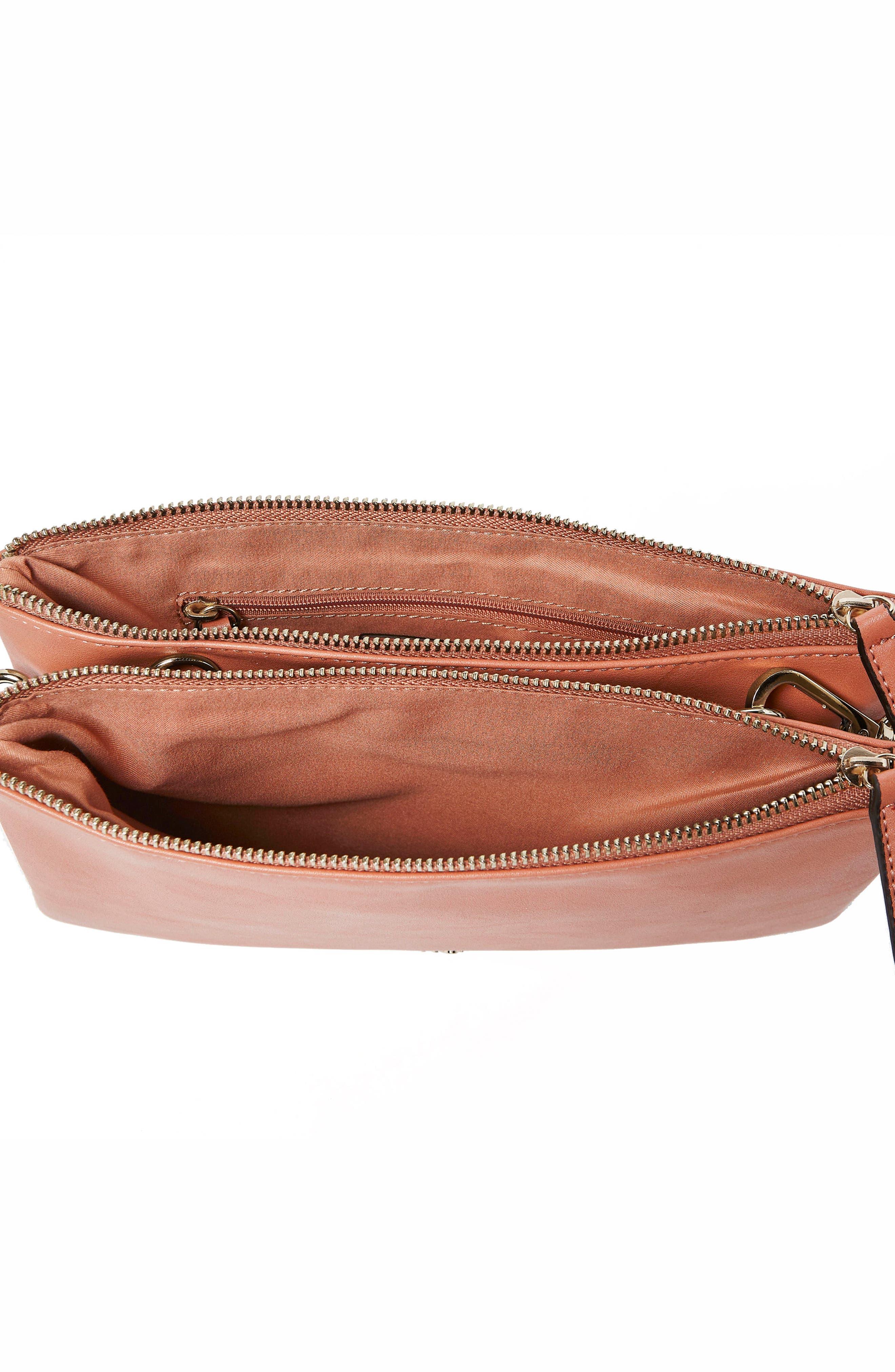 The Enchanted Vegan Leather Crossbody Bag,                             Alternate thumbnail 3, color,                             Rose Pink