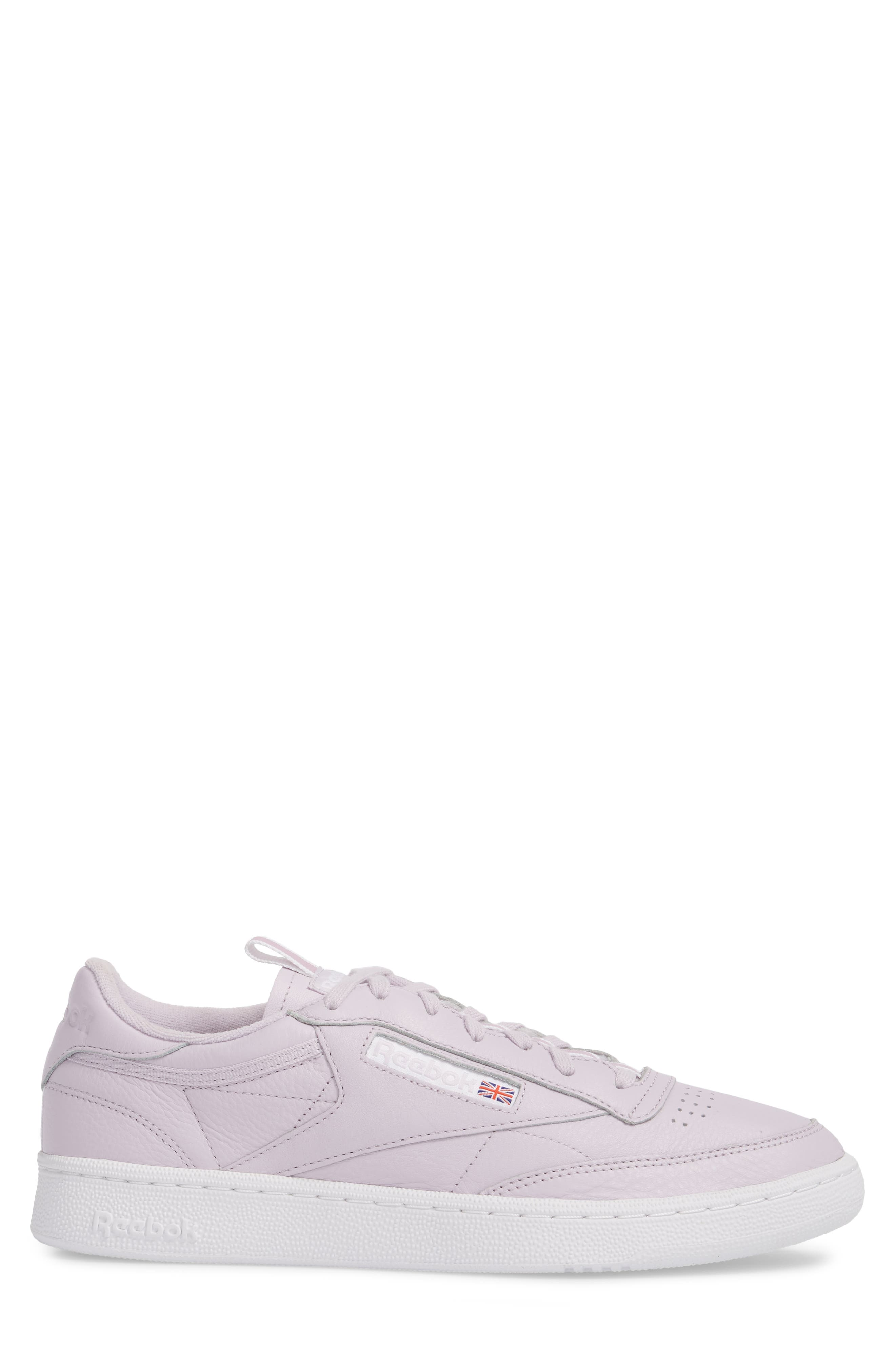 Club C 85 RT Sneaker,                             Alternate thumbnail 3, color,                             Quartz/ White/ Purple Fog