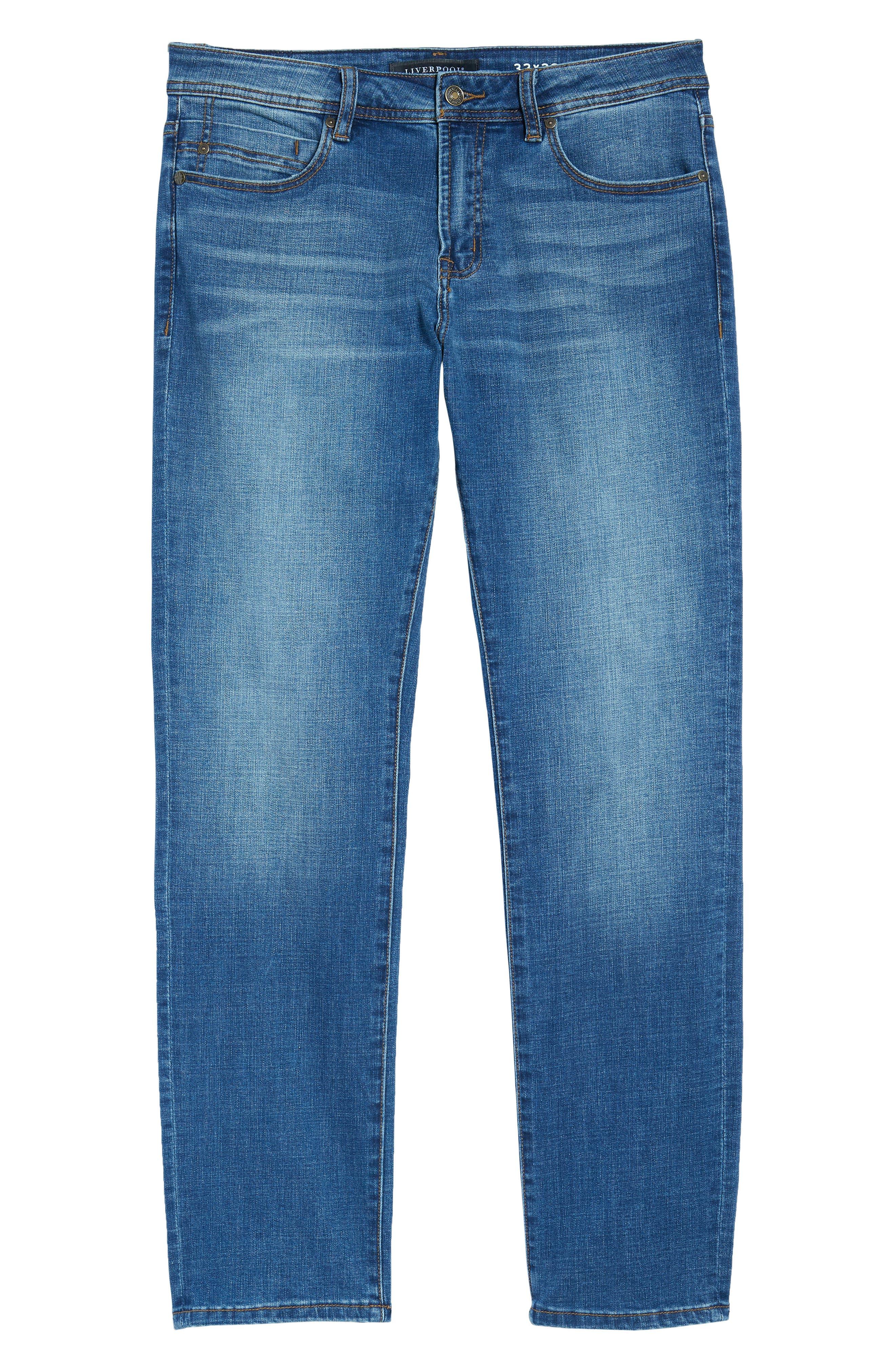 Jeans Co. Regent Relaxed Straight Leg Jeans,                             Alternate thumbnail 6, color,                             Highlander Mid