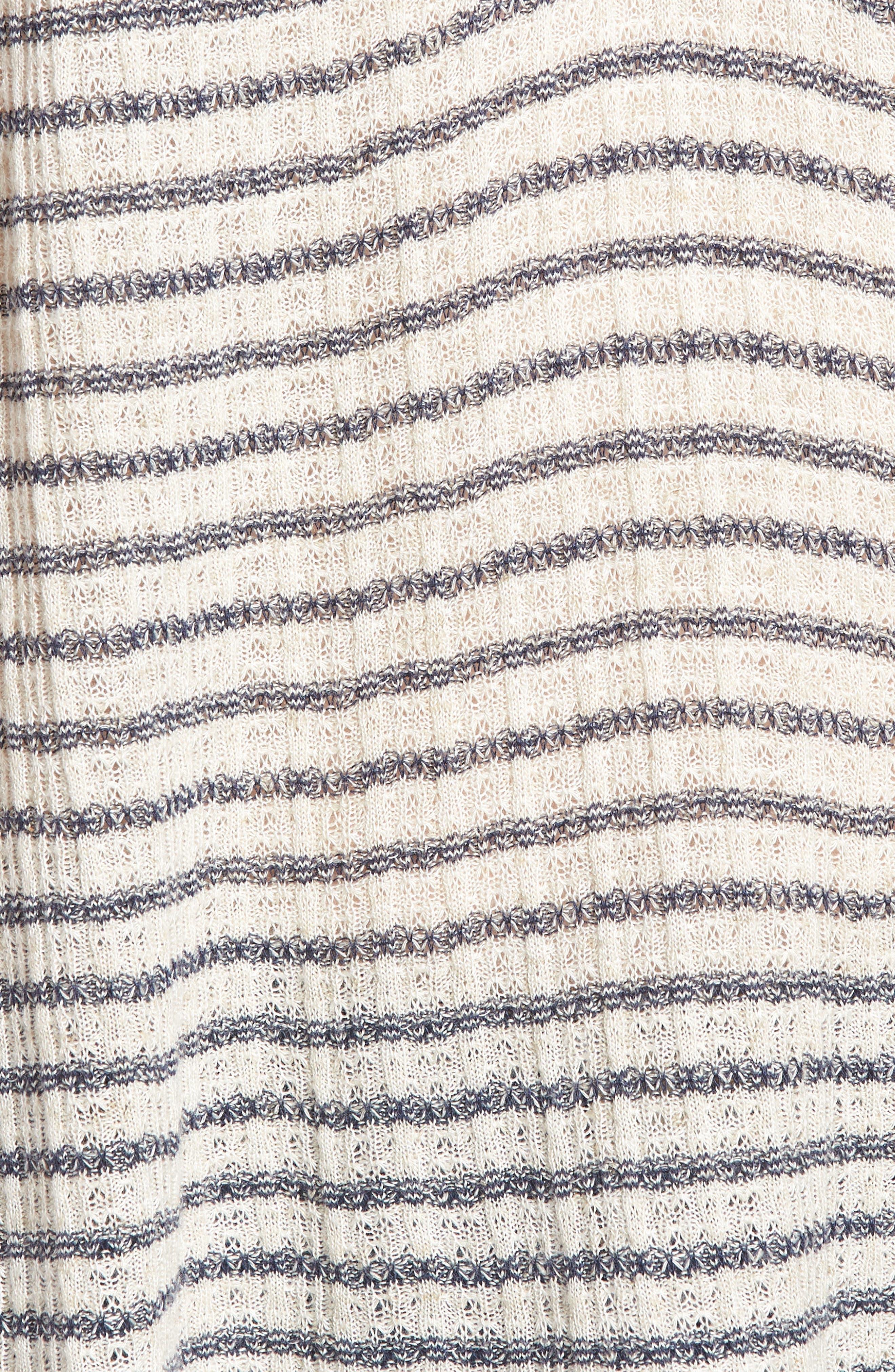 Split Neck Stripe Top,                             Alternate thumbnail 6, color,                             Blue Stripe