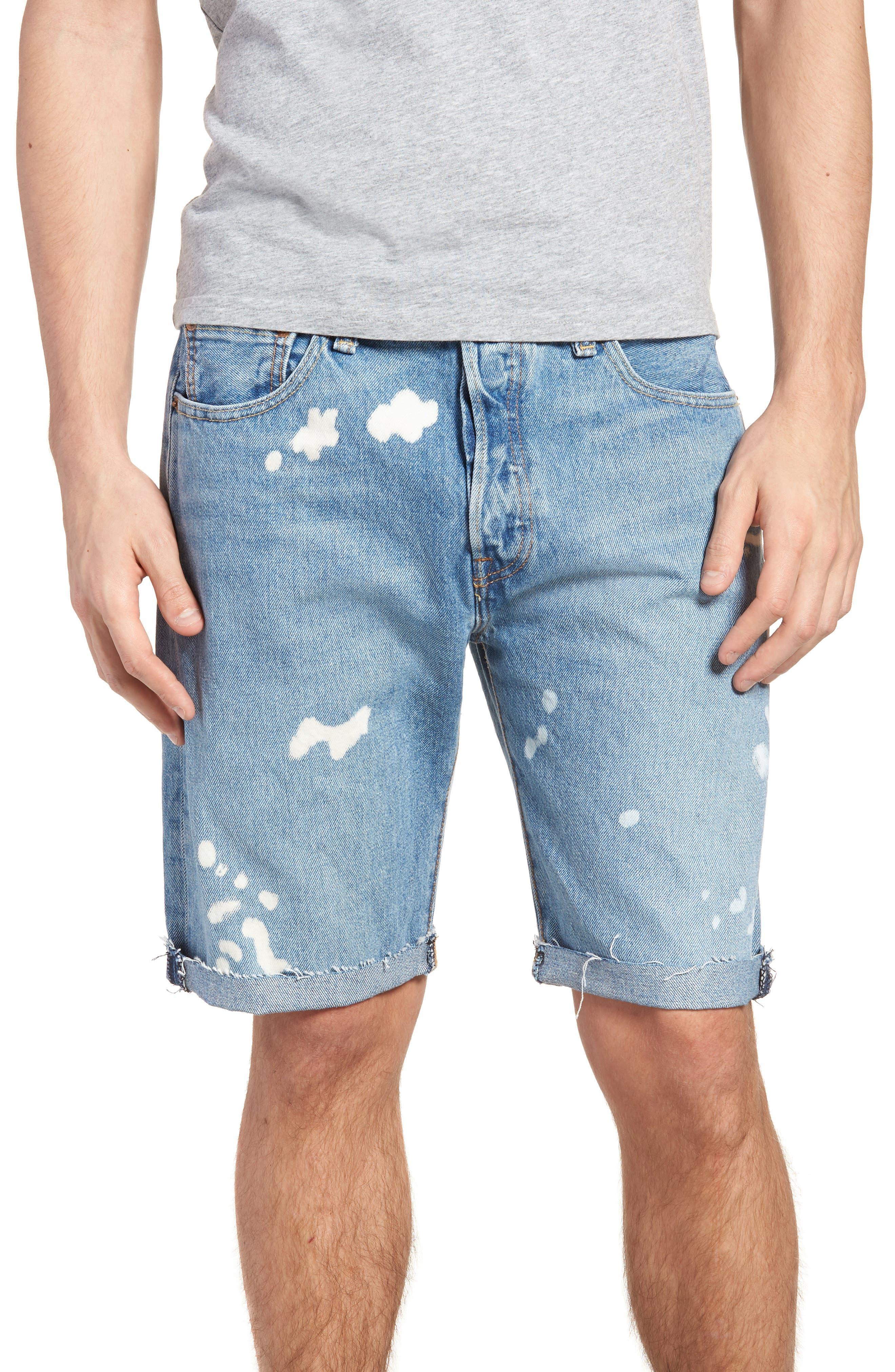 501<sup>®</sup> Cutoff Denim Shorts,                         Main,                         color, Lifes A Bleach