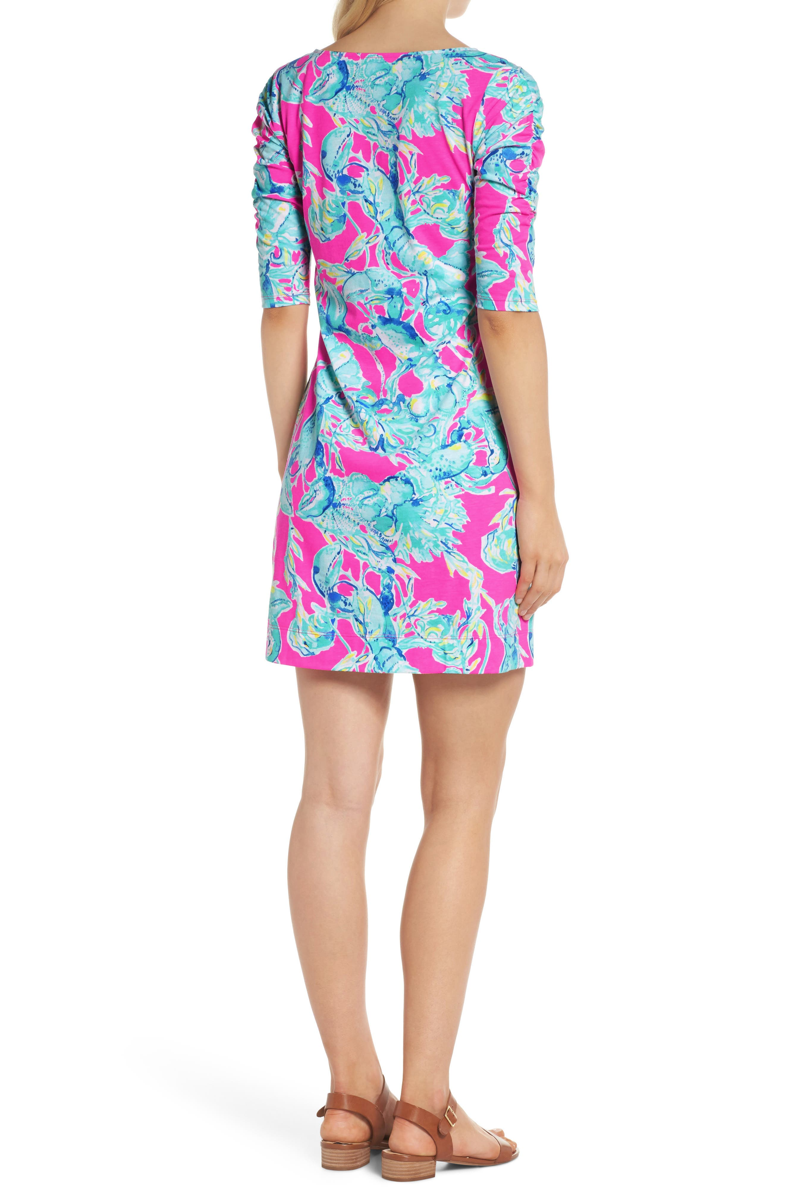 Lajolla T-Shirt Dress,                             Alternate thumbnail 2, color,                             Raz Berry Lobsters In Love