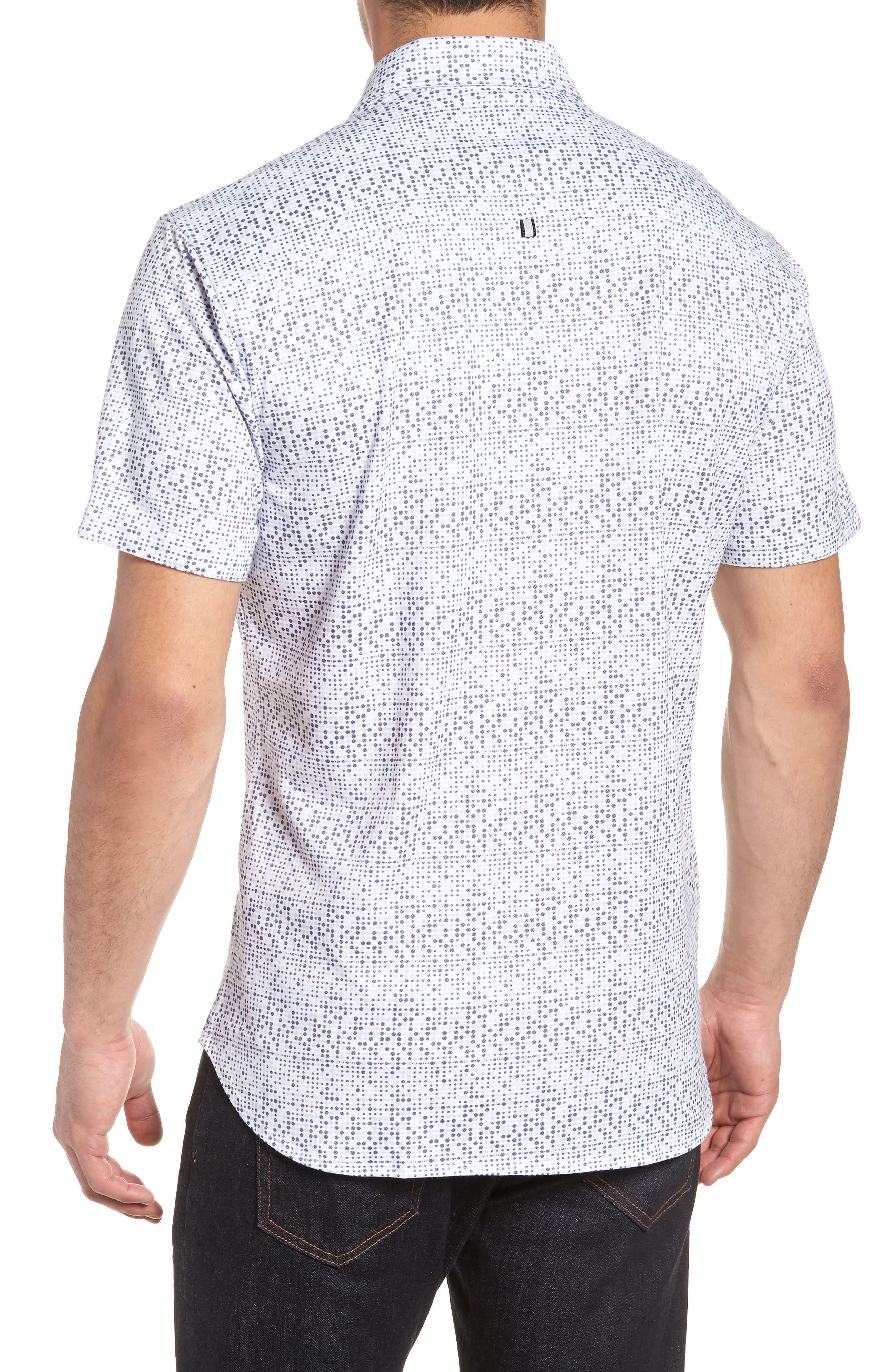 Knit Sport Shirt,                             Alternate thumbnail 2, color,                             White