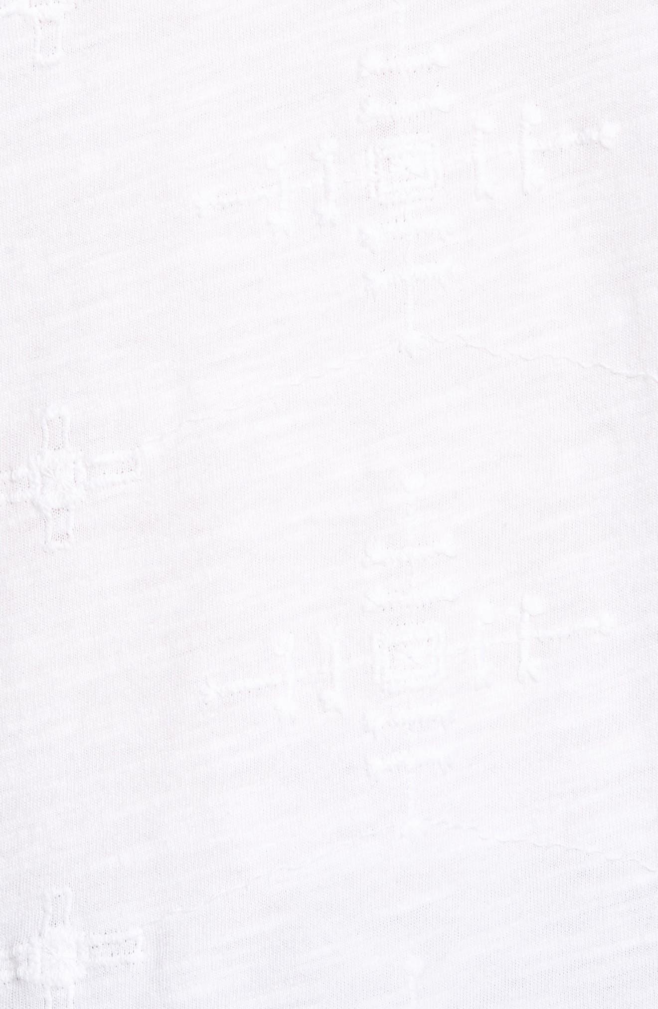 Eyelet Knit Top,                             Alternate thumbnail 6, color,                             Lucky White