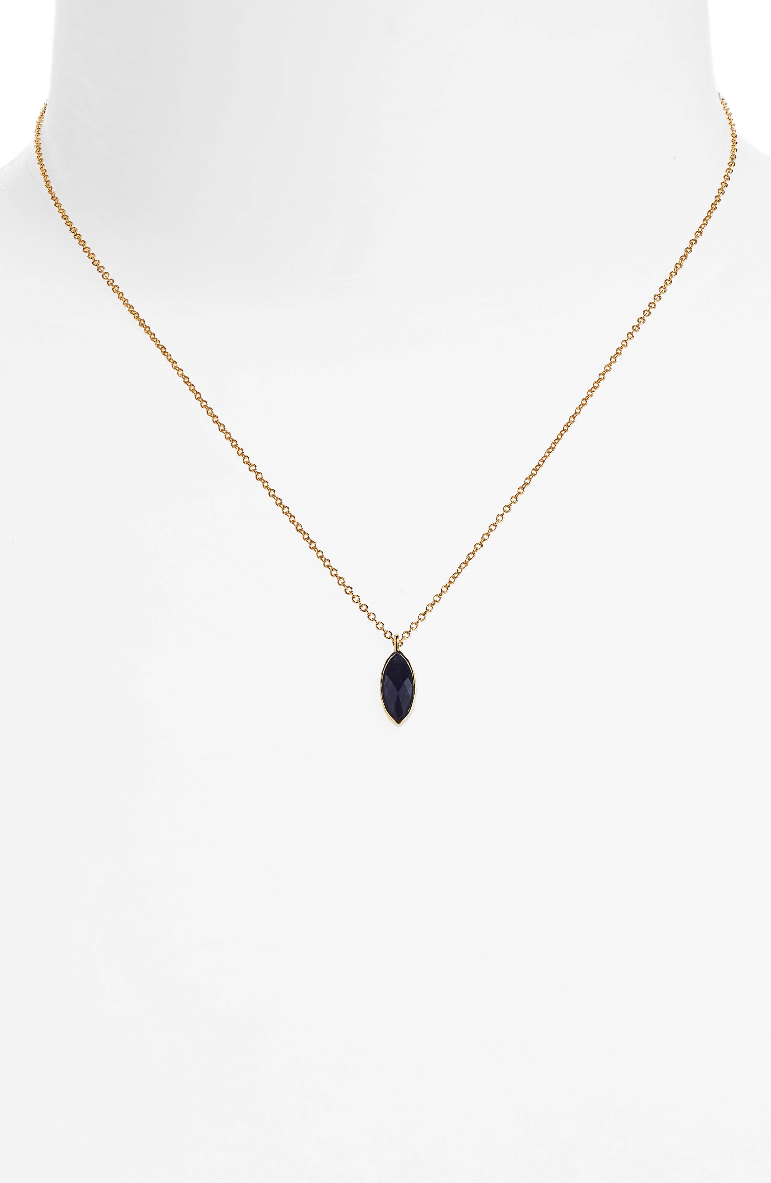 Palisades Adjustable Charm Necklace,                             Alternate thumbnail 2, color,                             Sodalite/ Gold