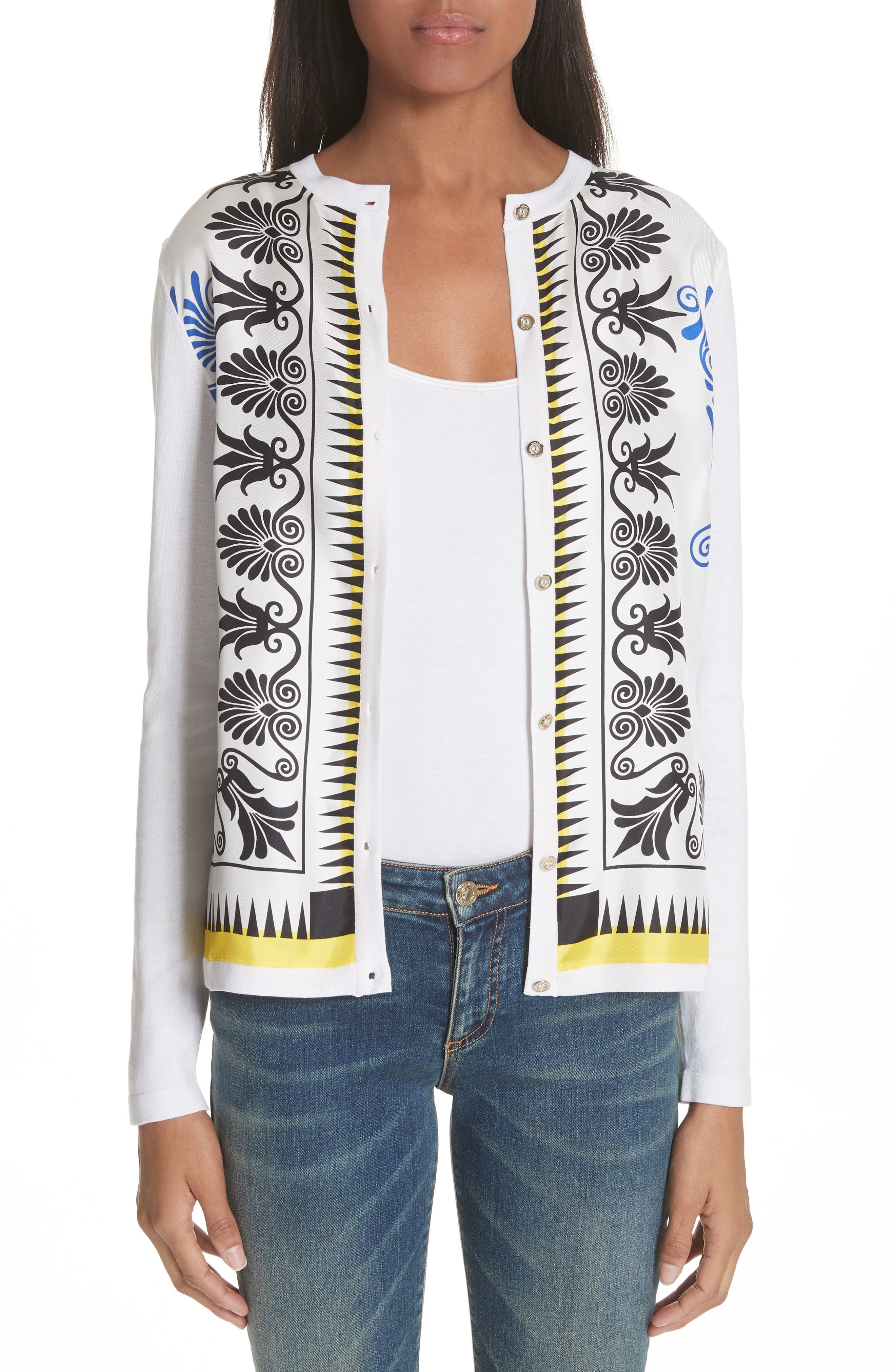 Versace Collection Eros Silk Blend Cardigan