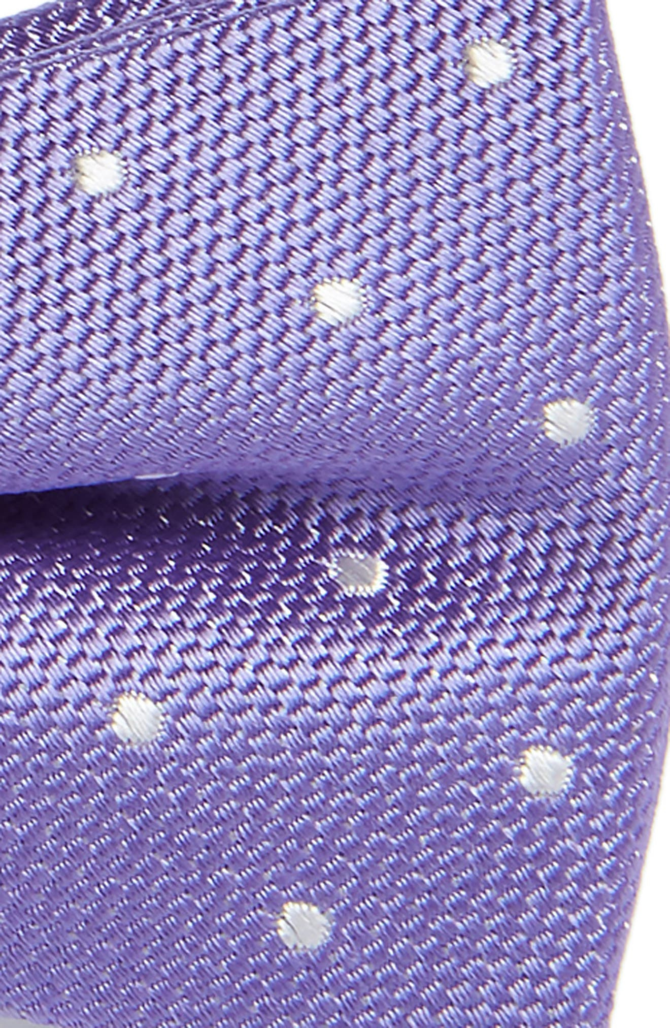 Dainty Dot Silk Bow Tie,                             Alternate thumbnail 2, color,                             Purple