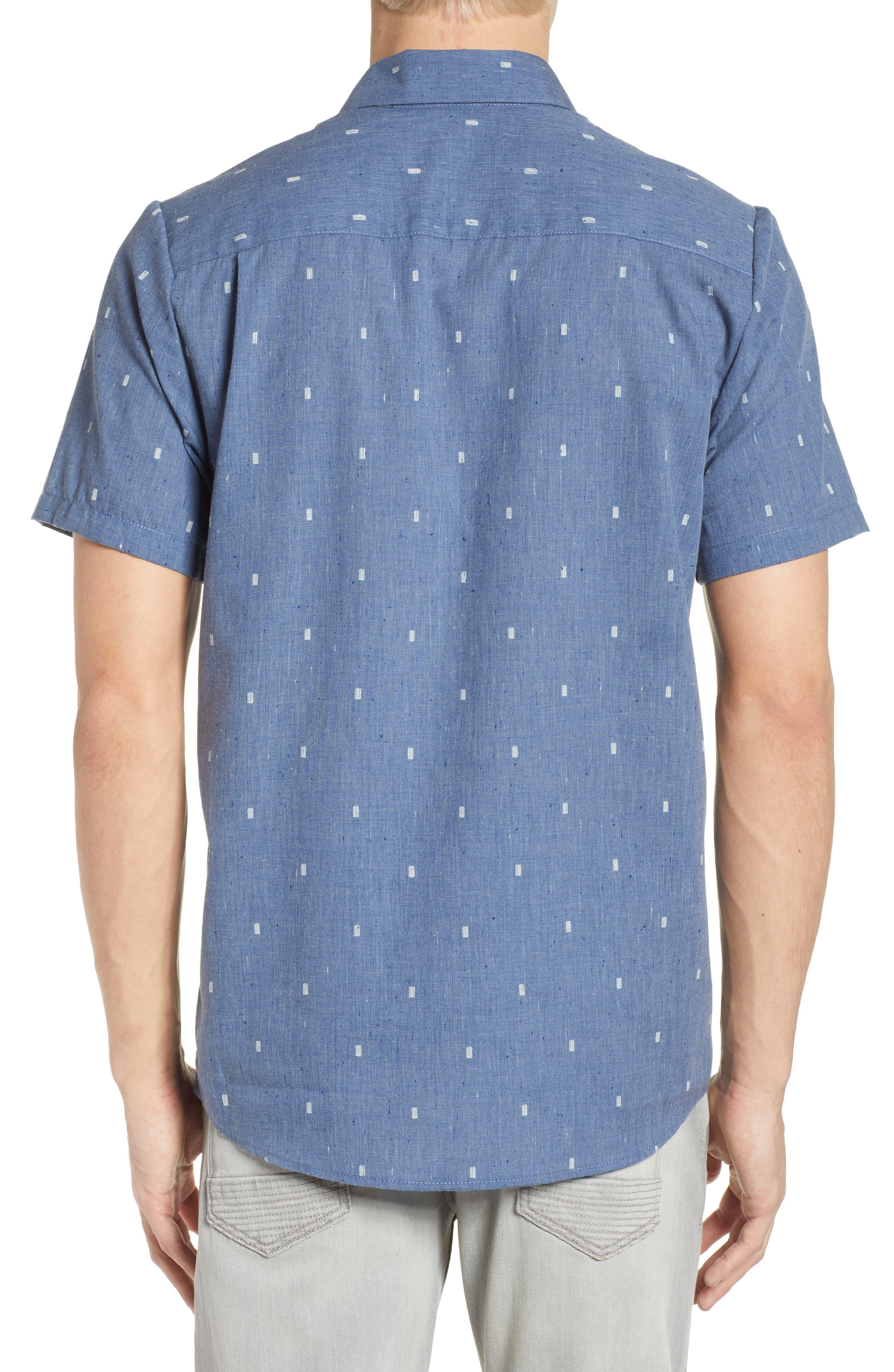 Gladstone Short Sleeve Shirt,                             Alternate thumbnail 2, color,                             Deep Blue