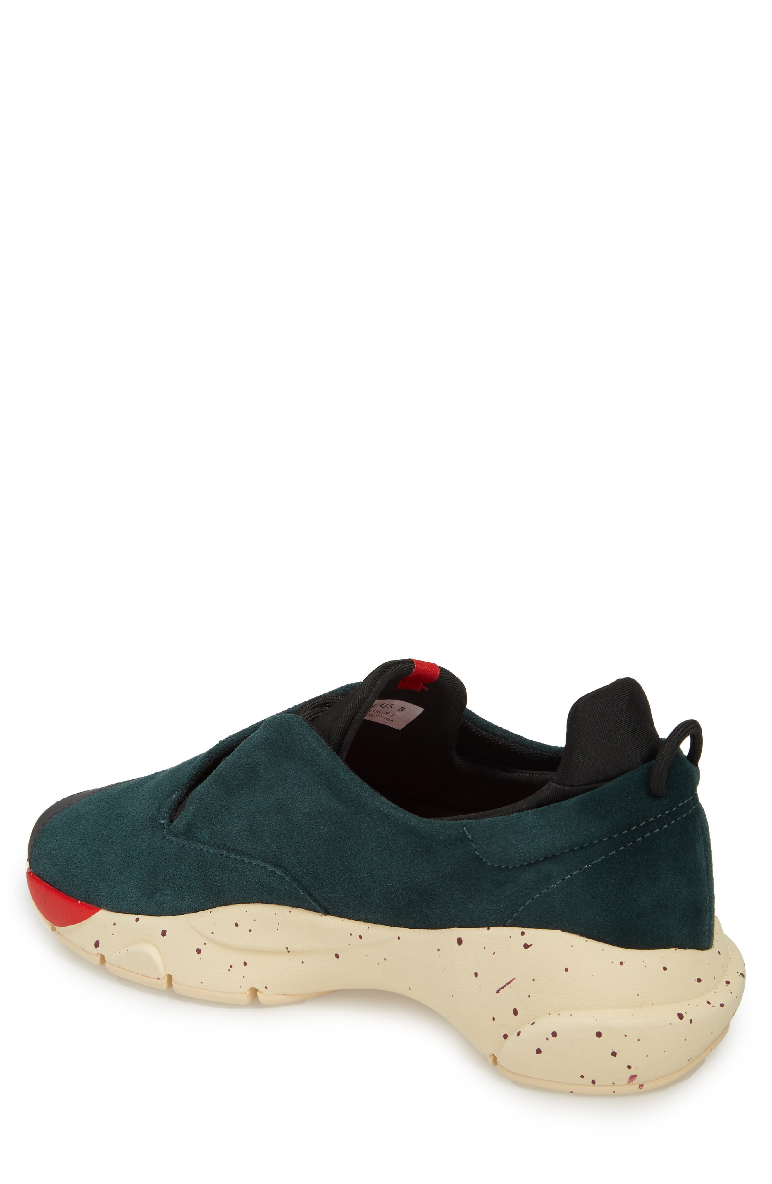 The Alpha Sneaker,                             Alternate thumbnail 2, color,                             Sequoia Green Leather