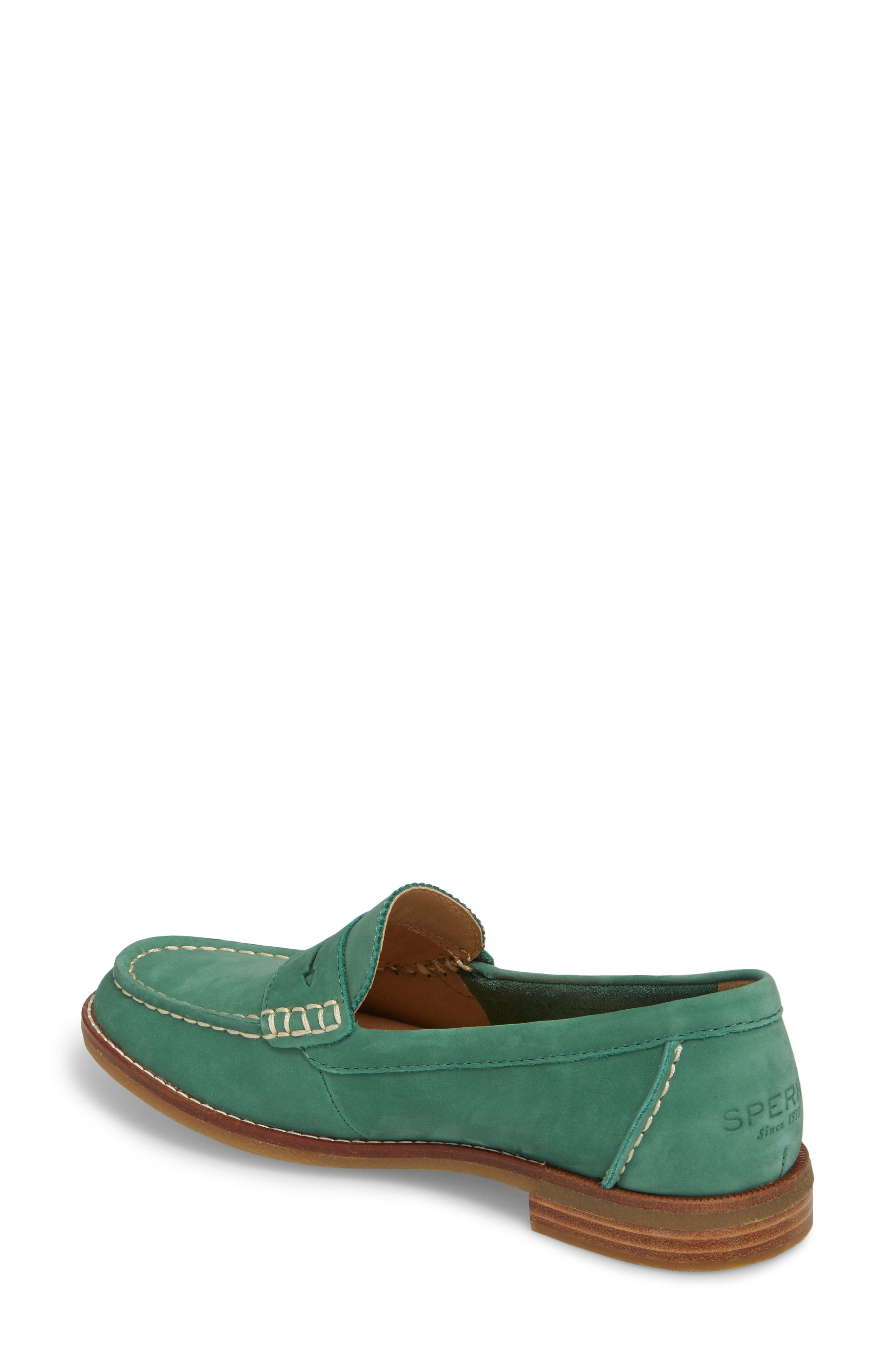 Seaport Penny Loafer,                             Alternate thumbnail 2, color,                             Green Leather