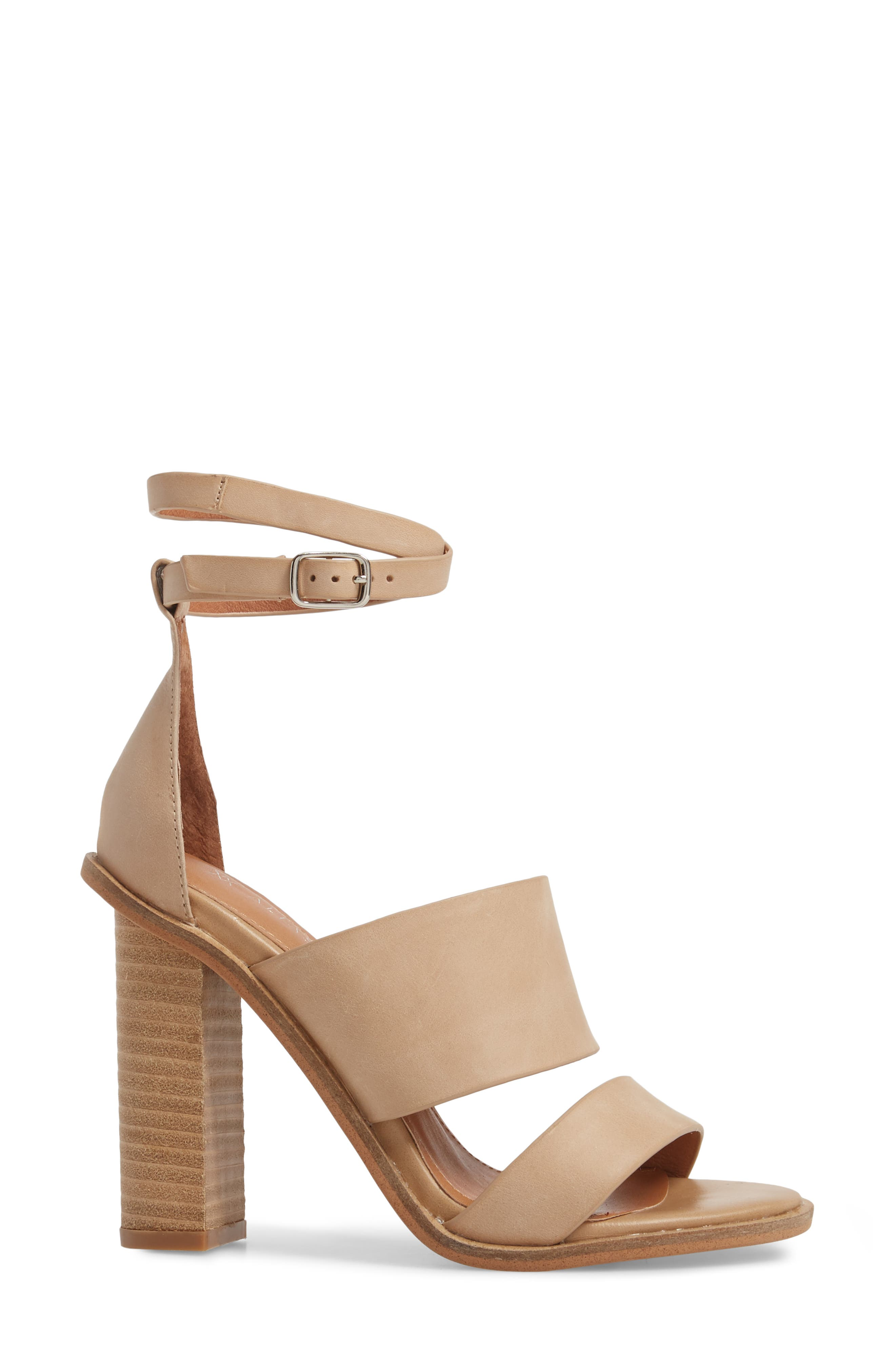 Admiral Ankle Wrap Sandal,                             Alternate thumbnail 3, color,                             Natural Leather