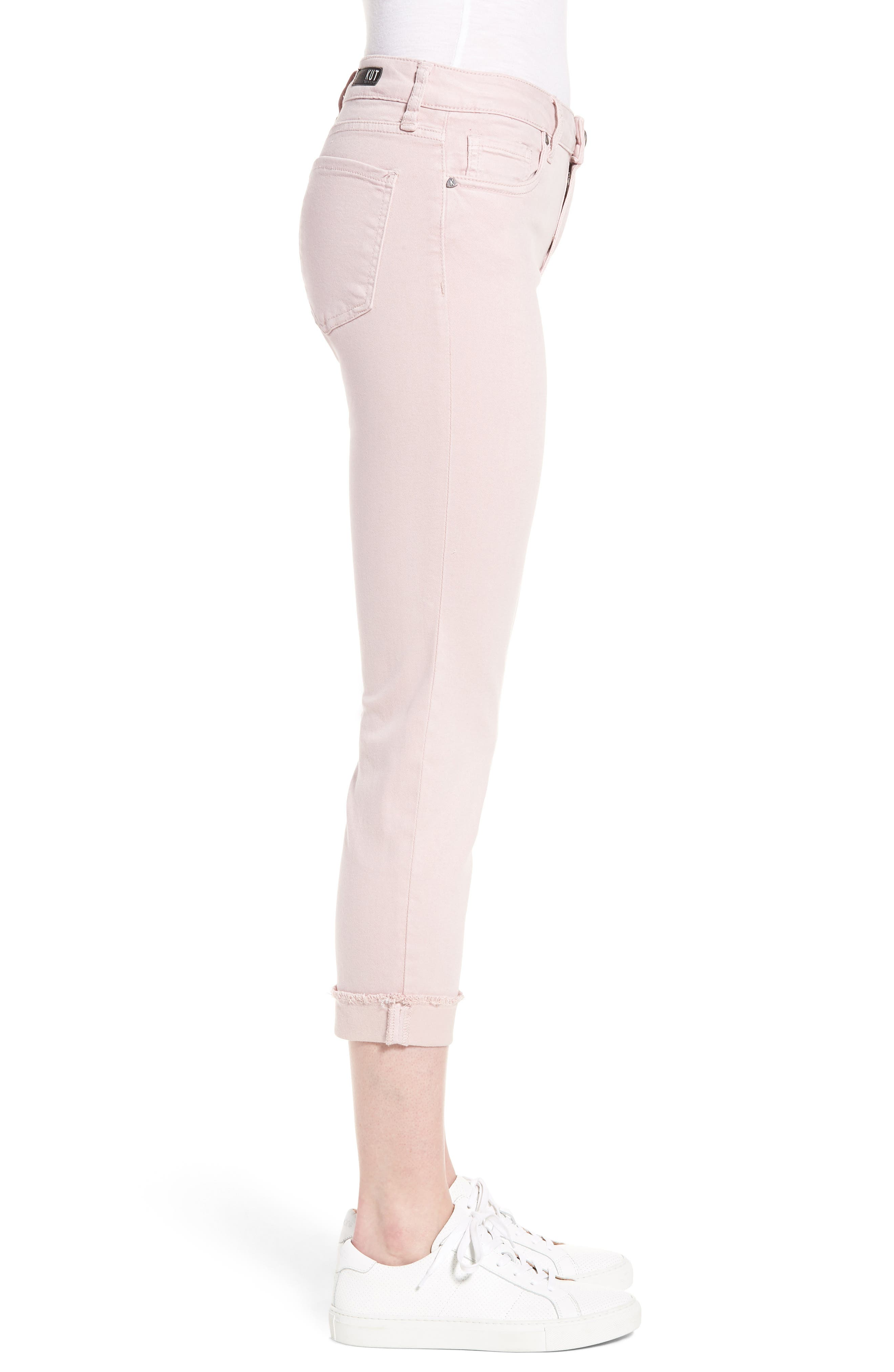 KUT from the Kloth Amy Crop Skinny Jeans,                             Alternate thumbnail 3, color,                             Rose