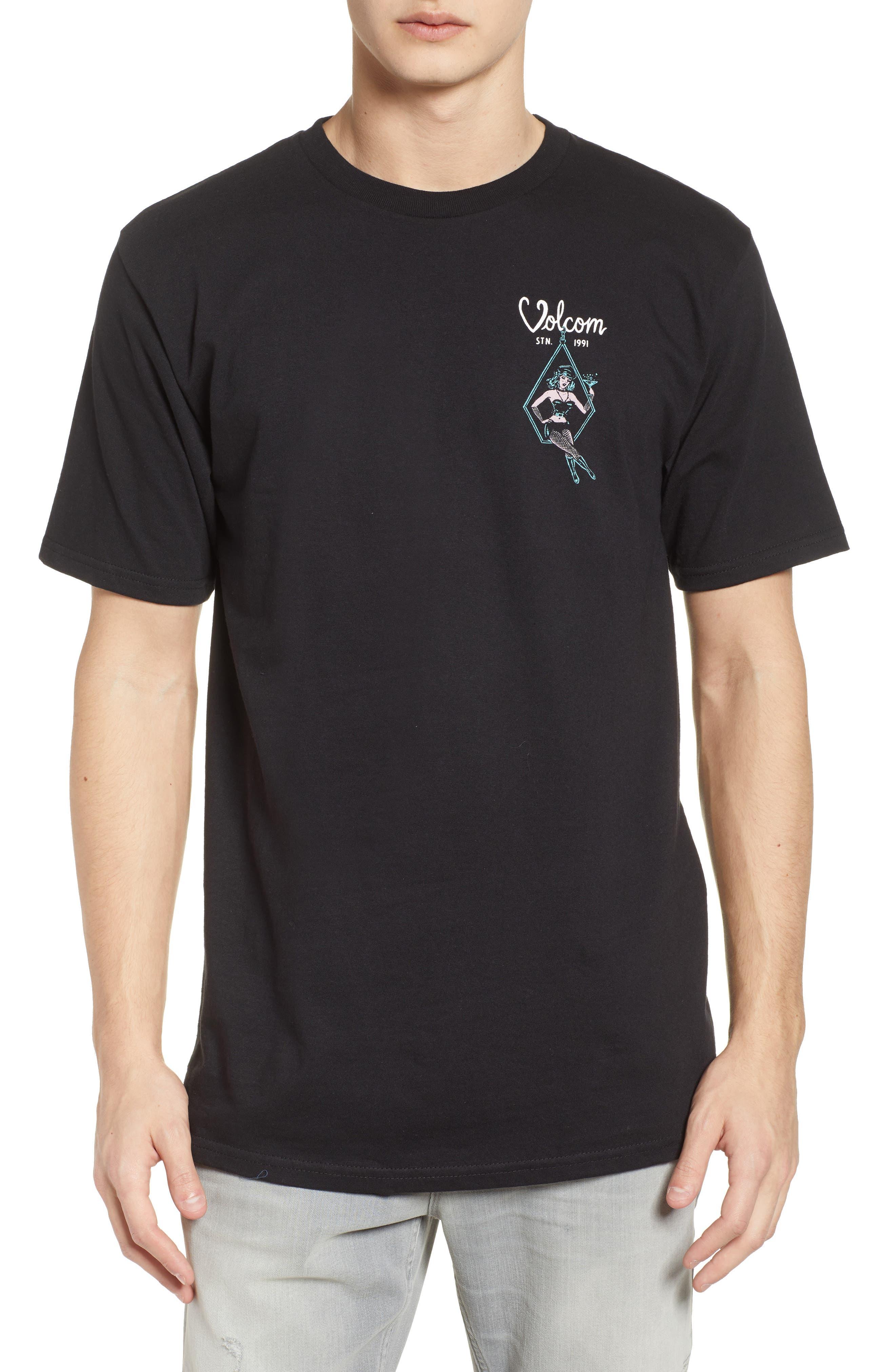 Swingers Saloon T-Shirt,                             Main thumbnail 1, color,                             Black