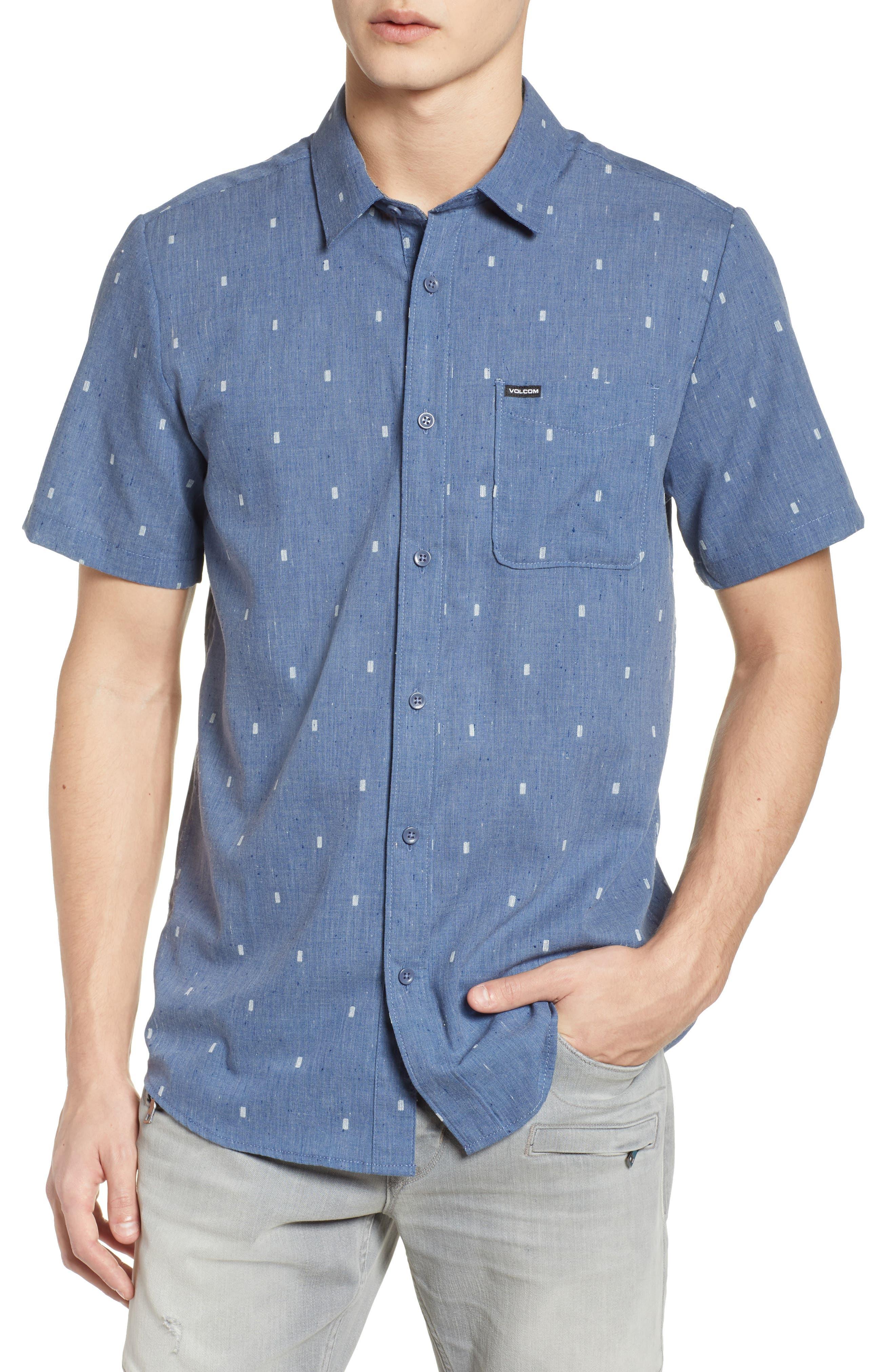 Gladstone Short Sleeve Shirt,                         Main,                         color, Deep Blue