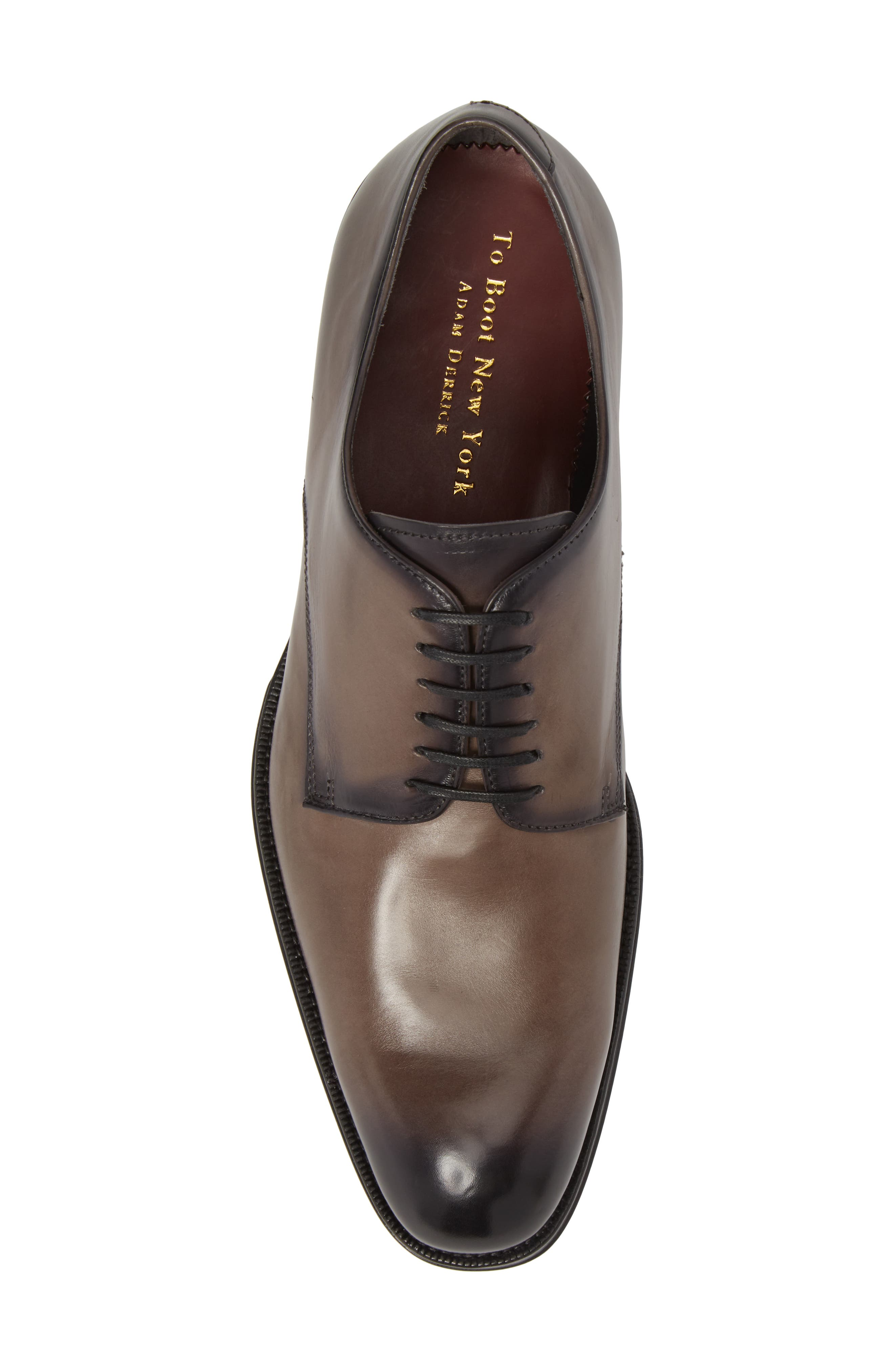 Academy Plain Toe Derby,                             Alternate thumbnail 5, color,                             Grey Leather