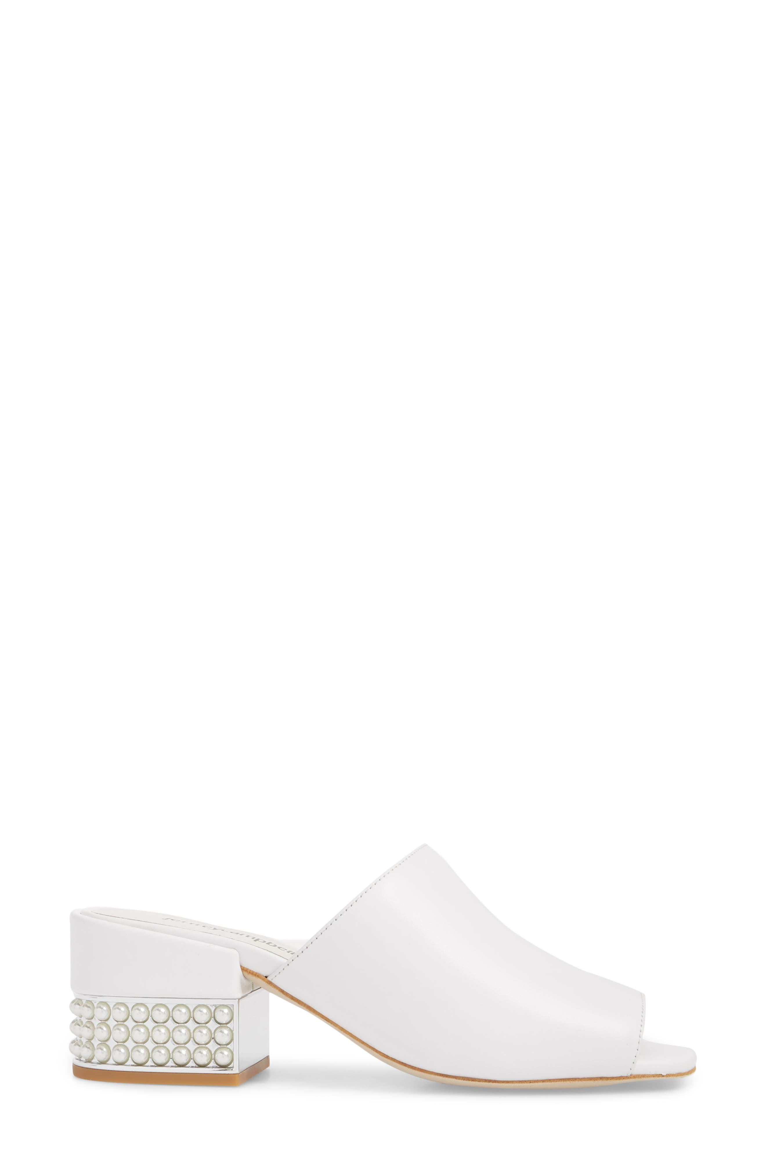 Teseida Embellished Mule,                             Alternate thumbnail 3, color,                             White/ Silver
