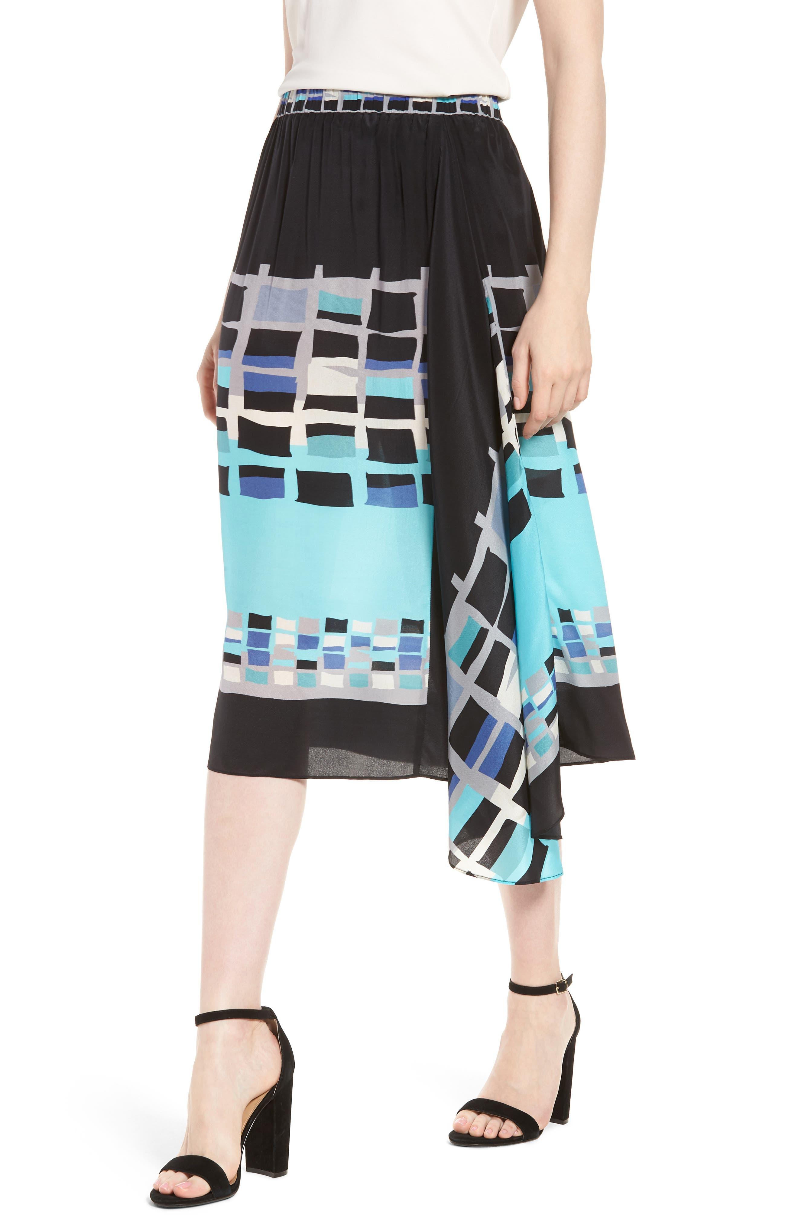 From Above Silk Blend Skirt,                             Main thumbnail 1, color,                             Multi