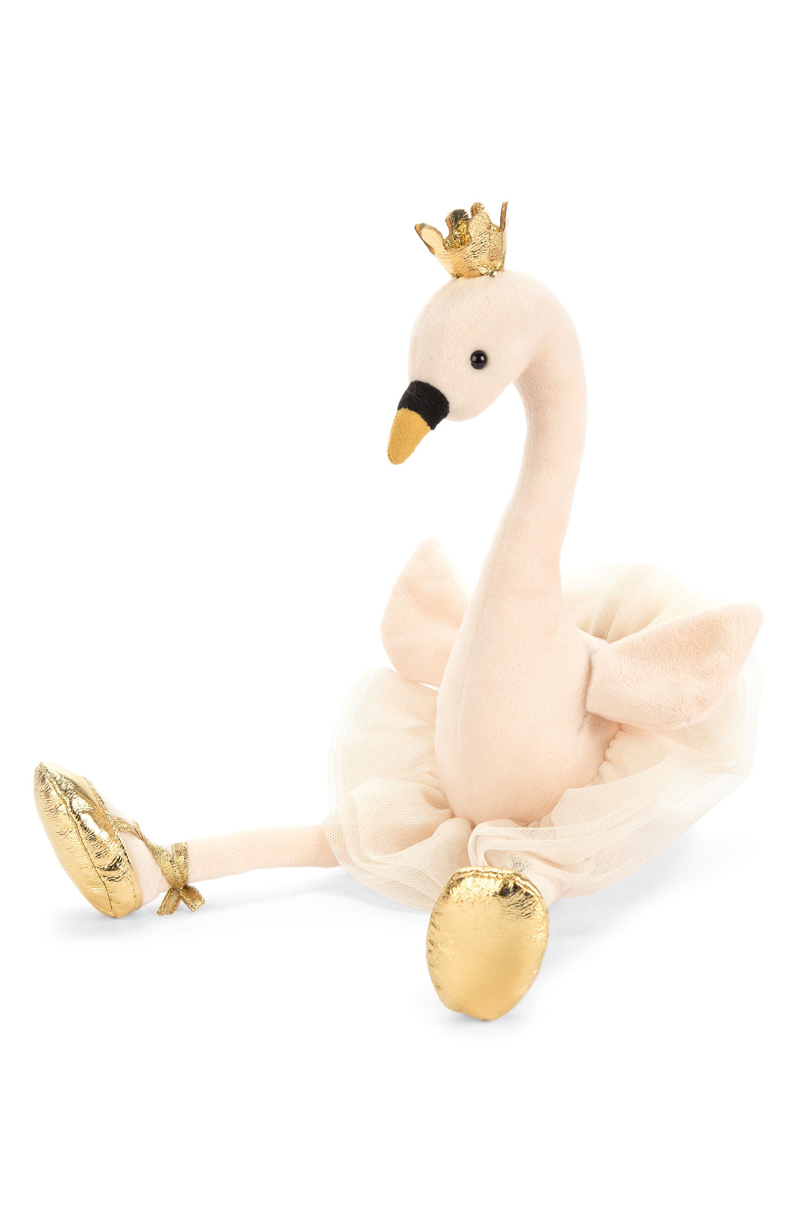 Fancy Swan Stuffed Animal,                         Main,                         color, Light Pink