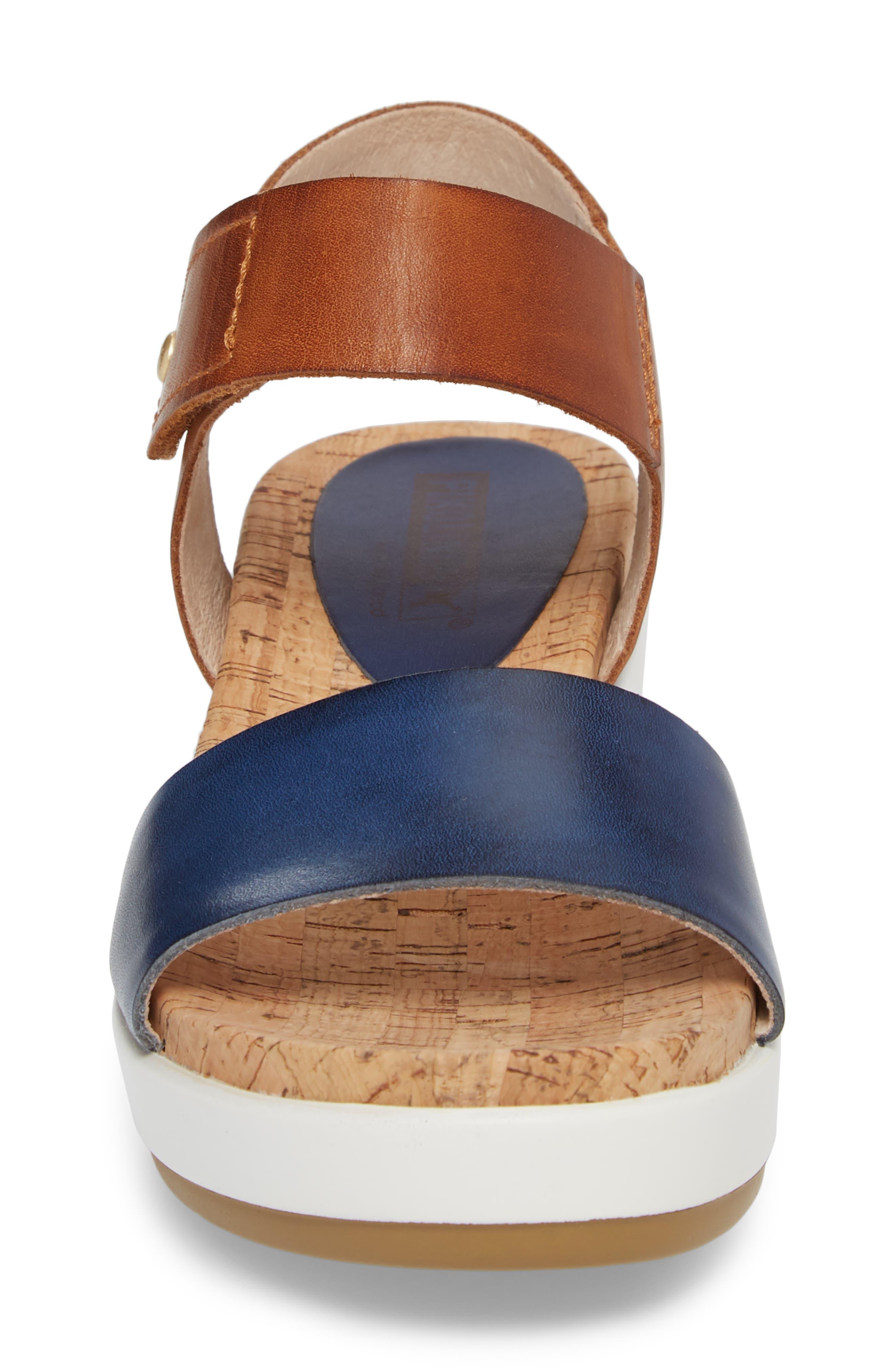 Mykonos Sport Sandal,                             Alternate thumbnail 4, color,                             Royal Blue Leather