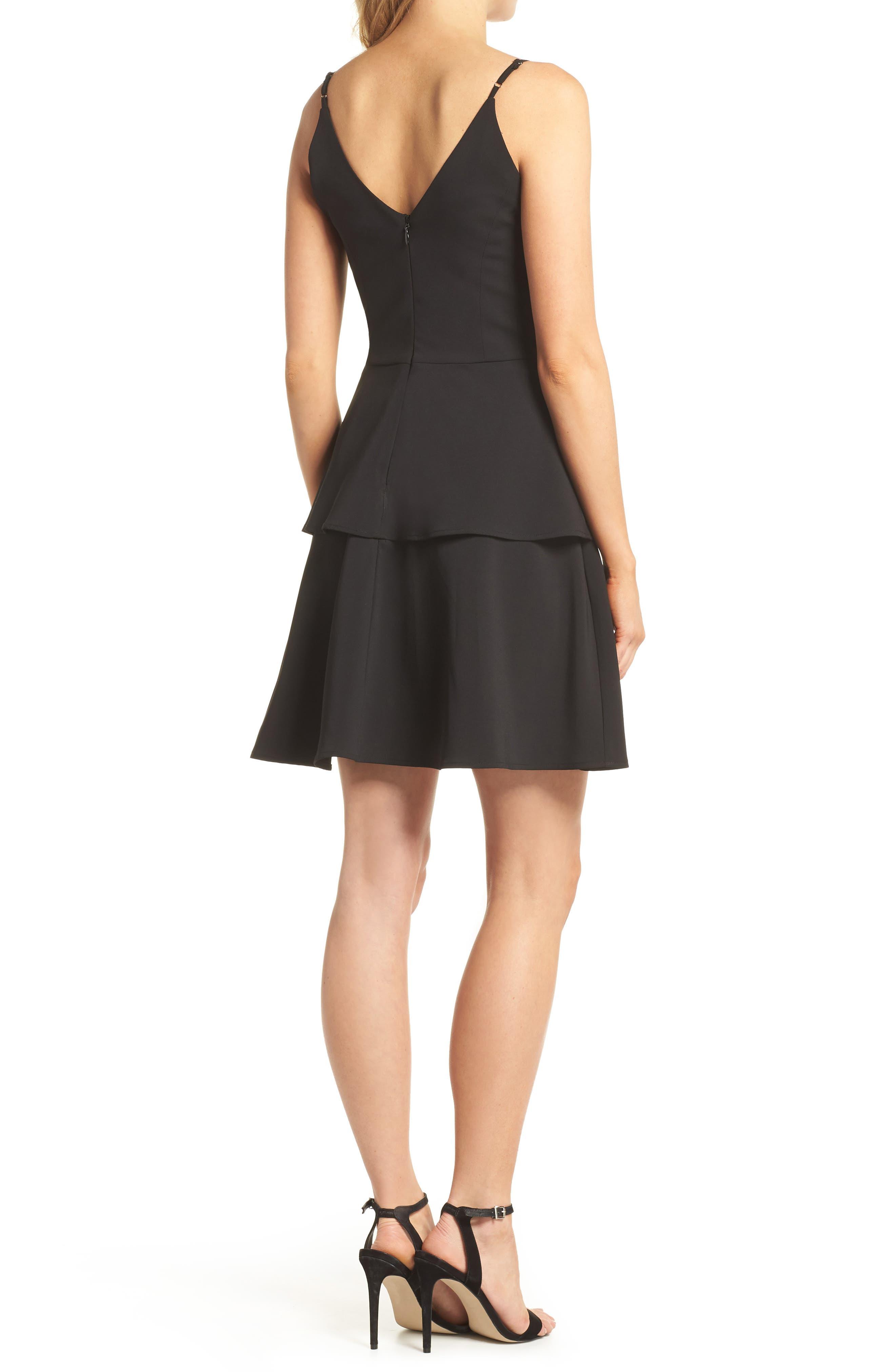 Tamika Sleeveless Fit & Flare Dress,                             Alternate thumbnail 2, color,                             Black