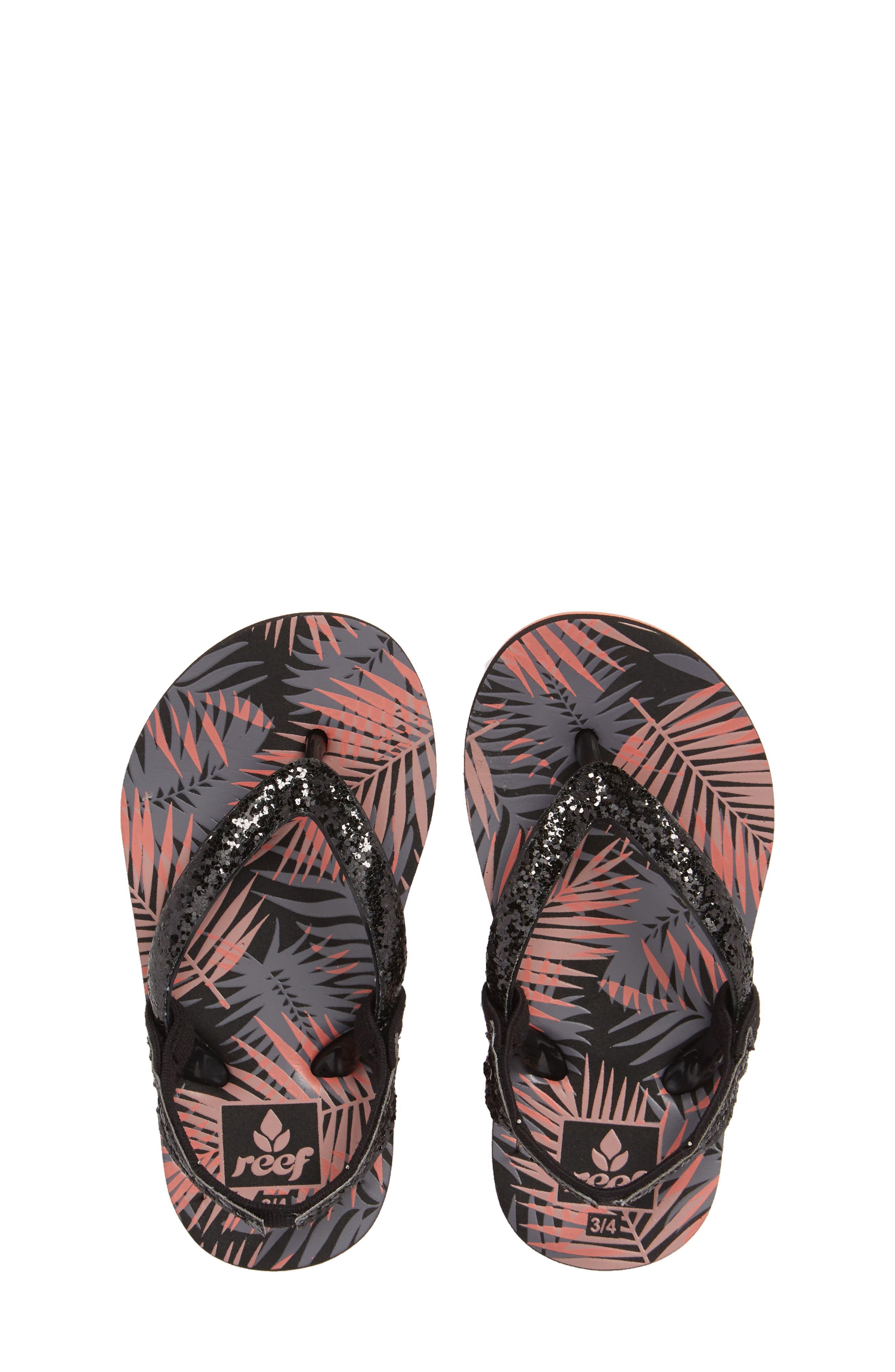 Little Stargazer Print Flip Flop,                         Main,                         color, Black Tropic