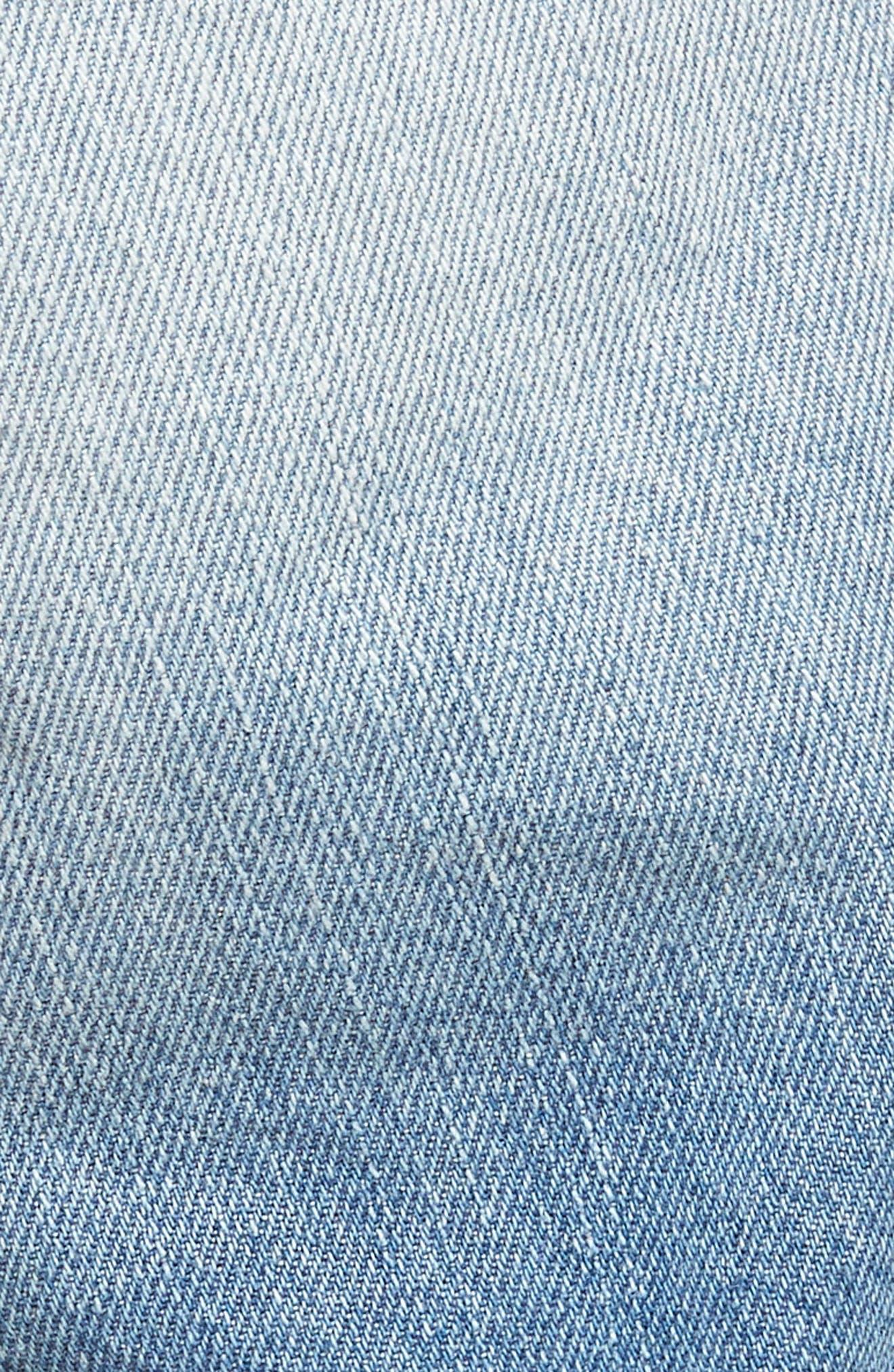 Slim Fit Denim Shorts,                             Alternate thumbnail 4, color,                             Light Aged