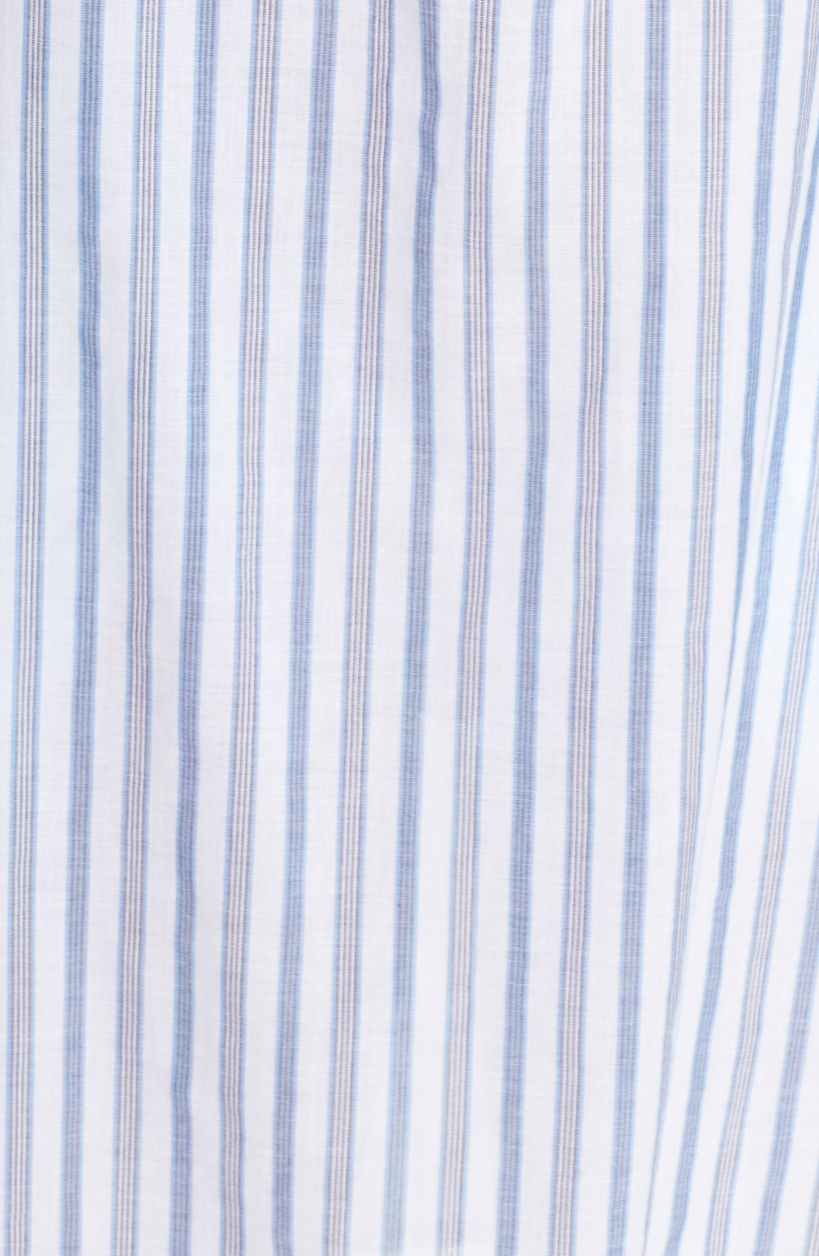 Ticking Stripe Off the Shoulder Cover-Up Dress,                             Alternate thumbnail 5, color,                             White