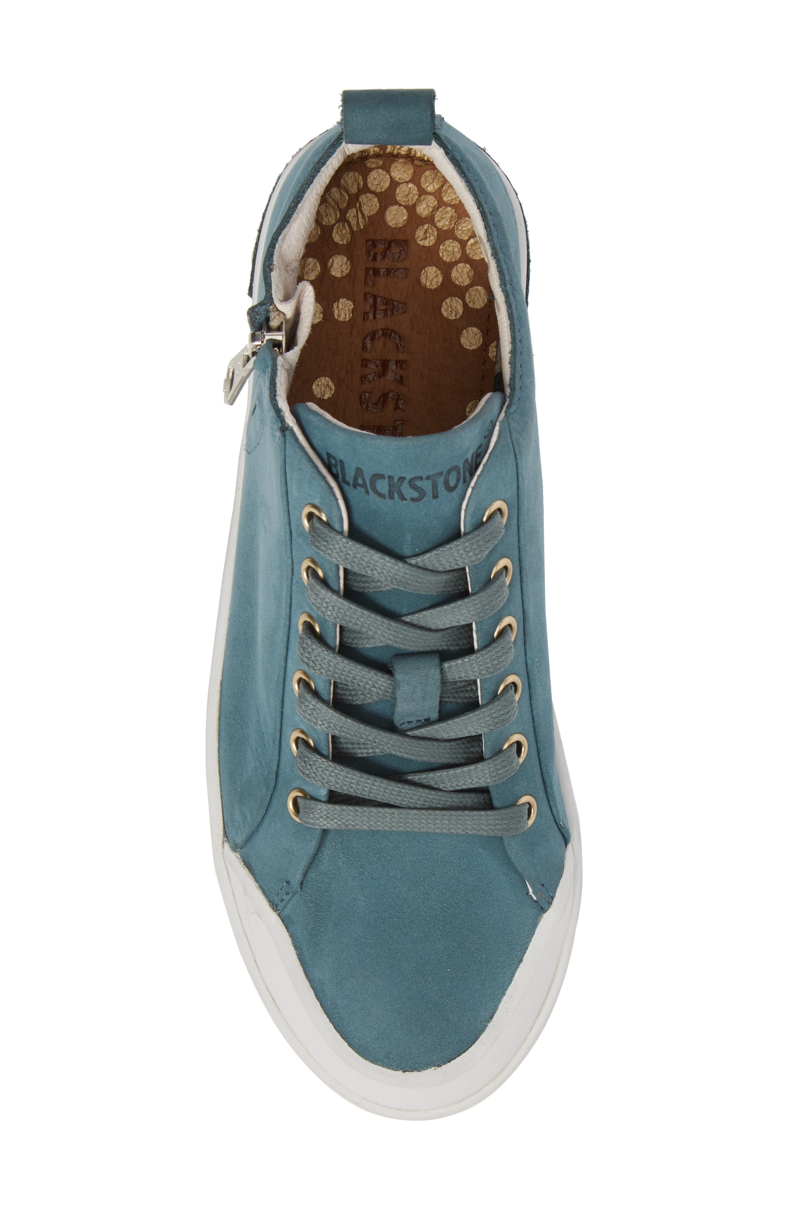 PL83 Mid Rise Sneaker,                             Alternate thumbnail 5, color,                             Mallard Blue Leather