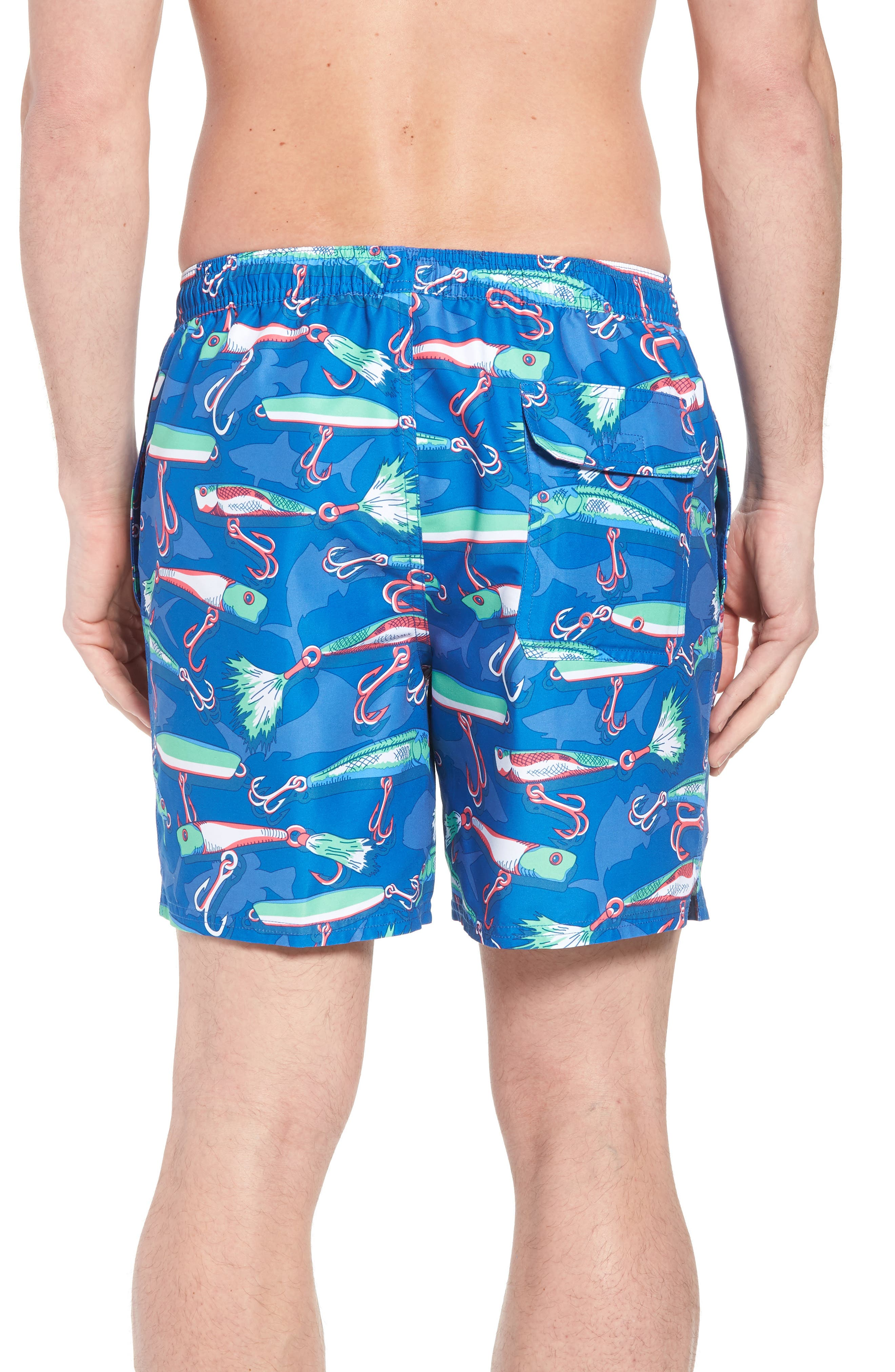 Chappy Lures Swim Trunks,                             Alternate thumbnail 2, color,                             Hull Blue