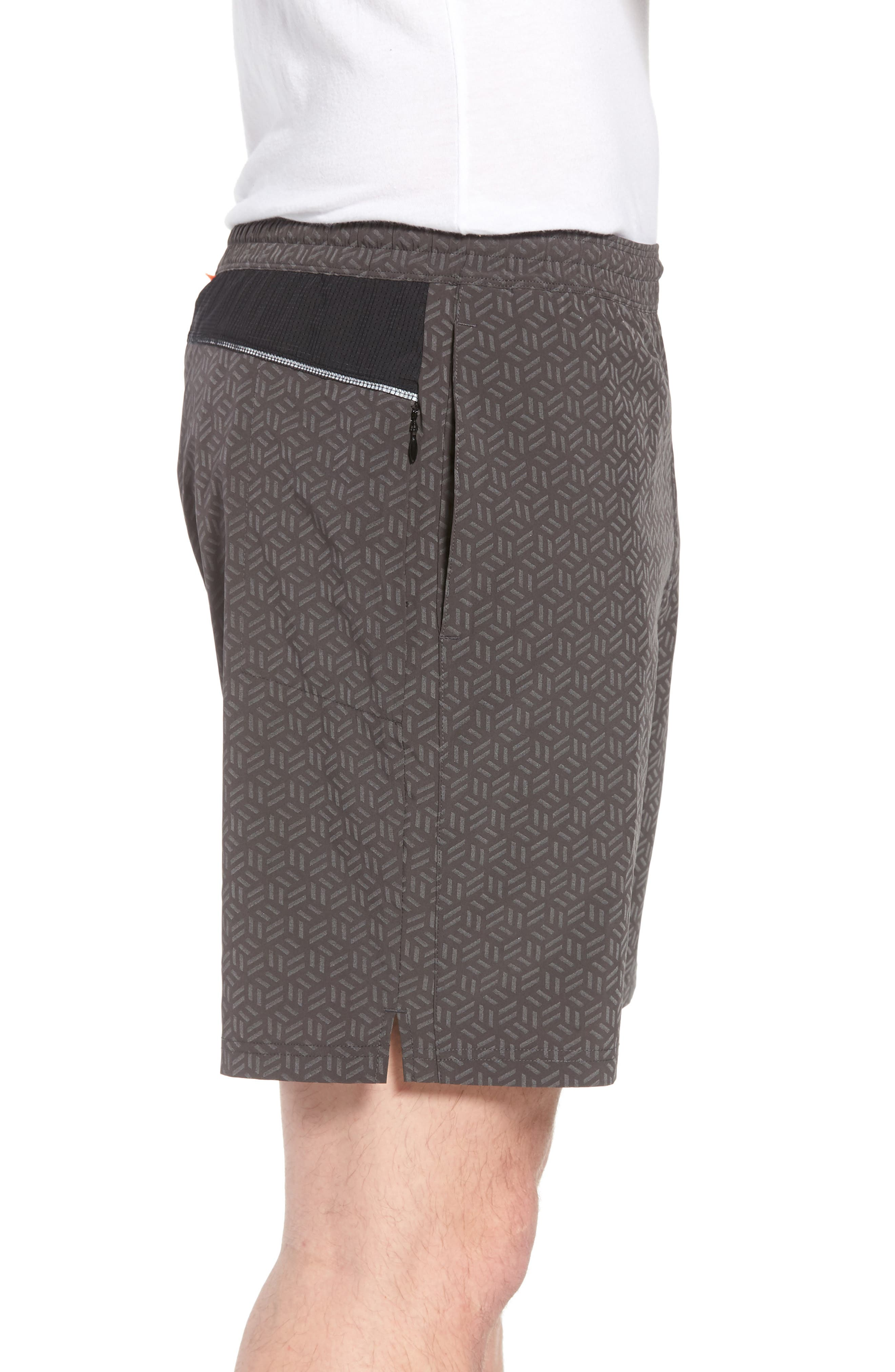 Stretch Shorts,                             Alternate thumbnail 4, color,                             Reflective Cube Geo