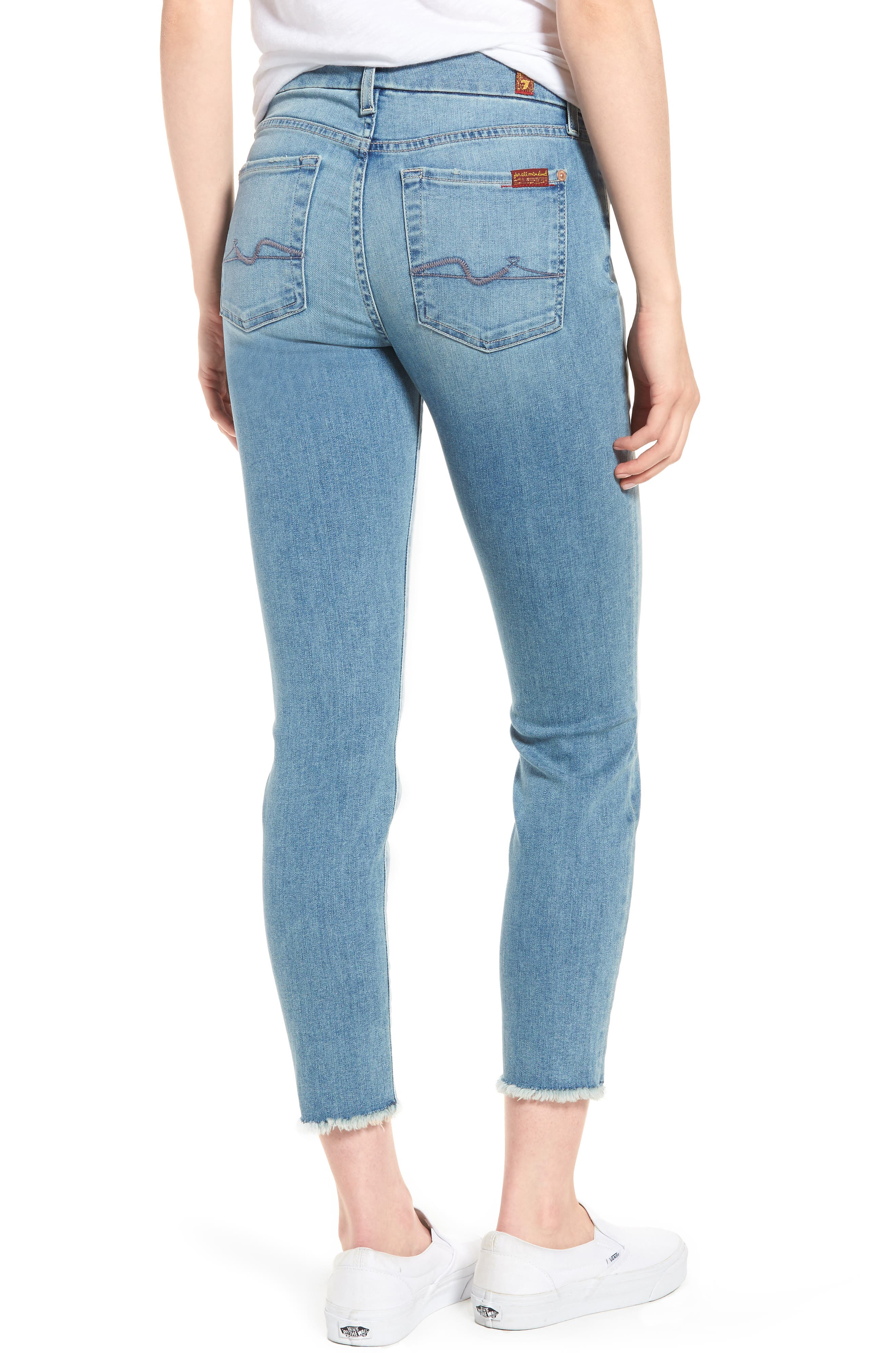 Kimmie Crop Straight Leg Jeans,                             Alternate thumbnail 2, color,                             Desert Heights